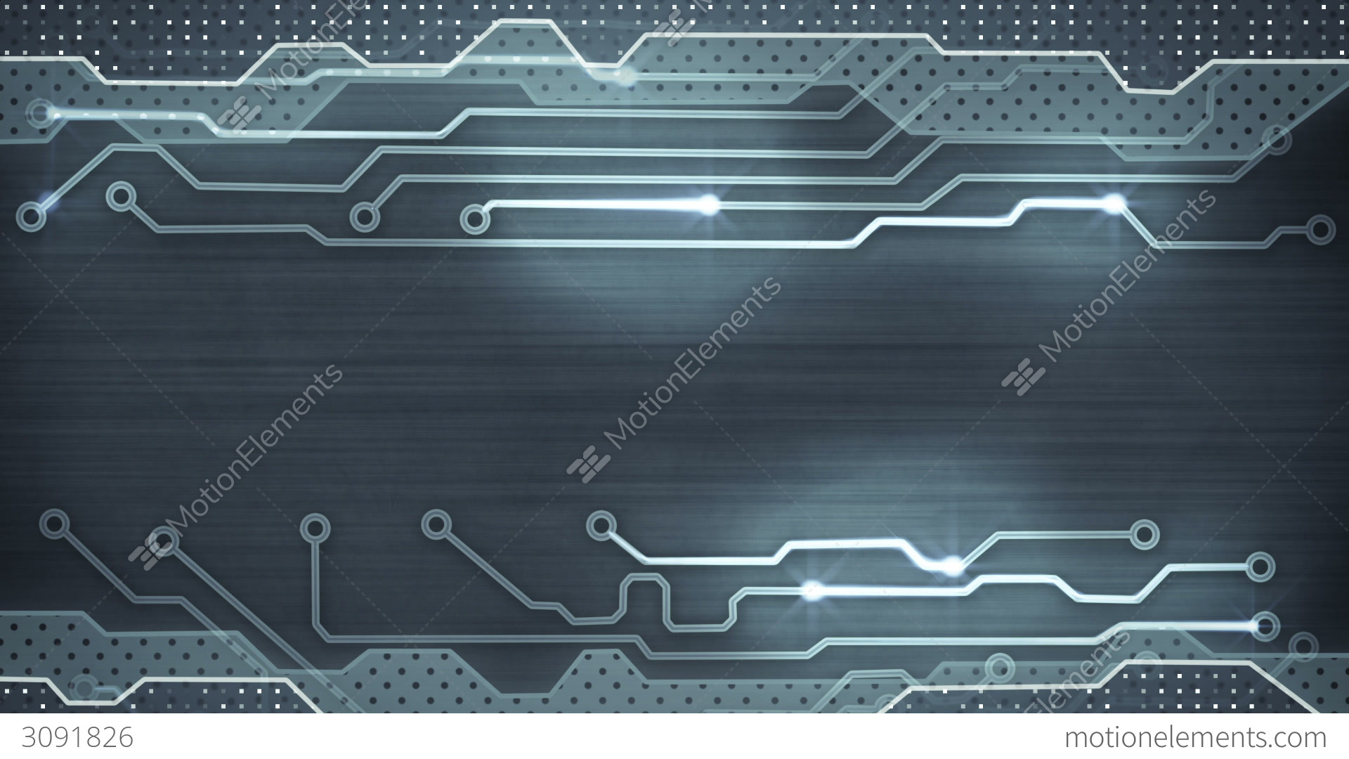 Grey Circuit Board Loopable Background Stock Animation