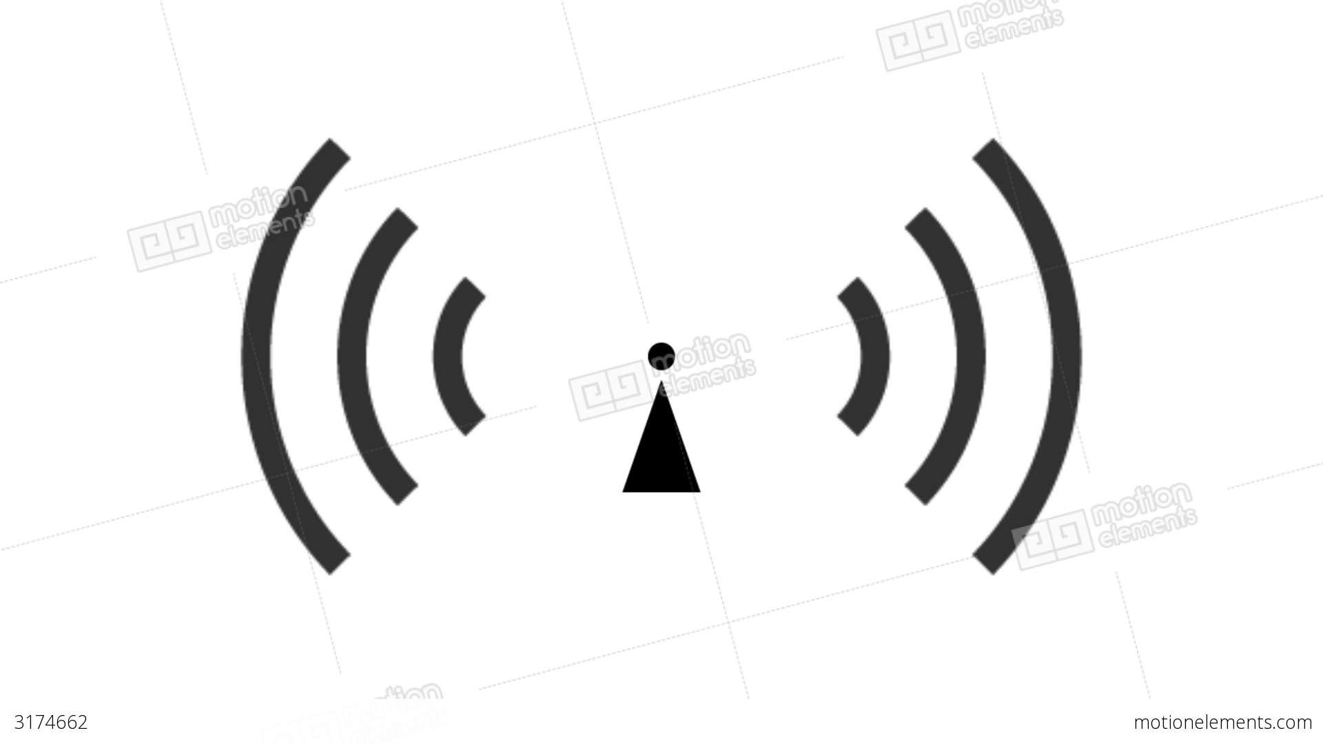 Pulsing Non Ionizing Radiation Symbol Stock Animation 3174662