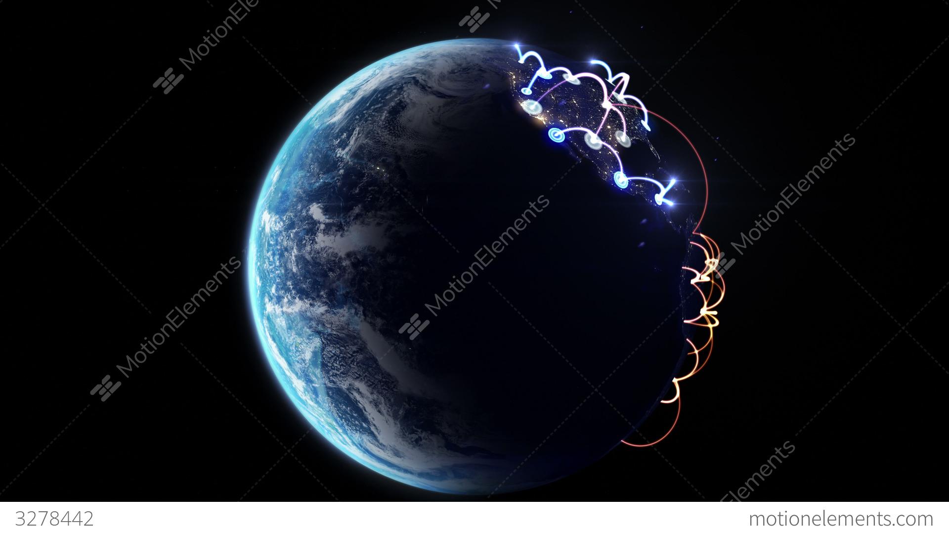 4K Growing Network Across The World Stock Animation 3278442