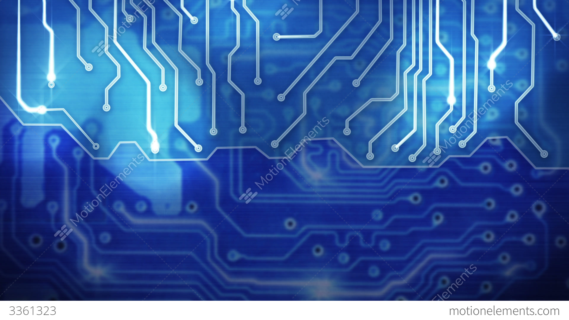 Blue Computer Circuit Board Loop Background Stock Animation | 3361323