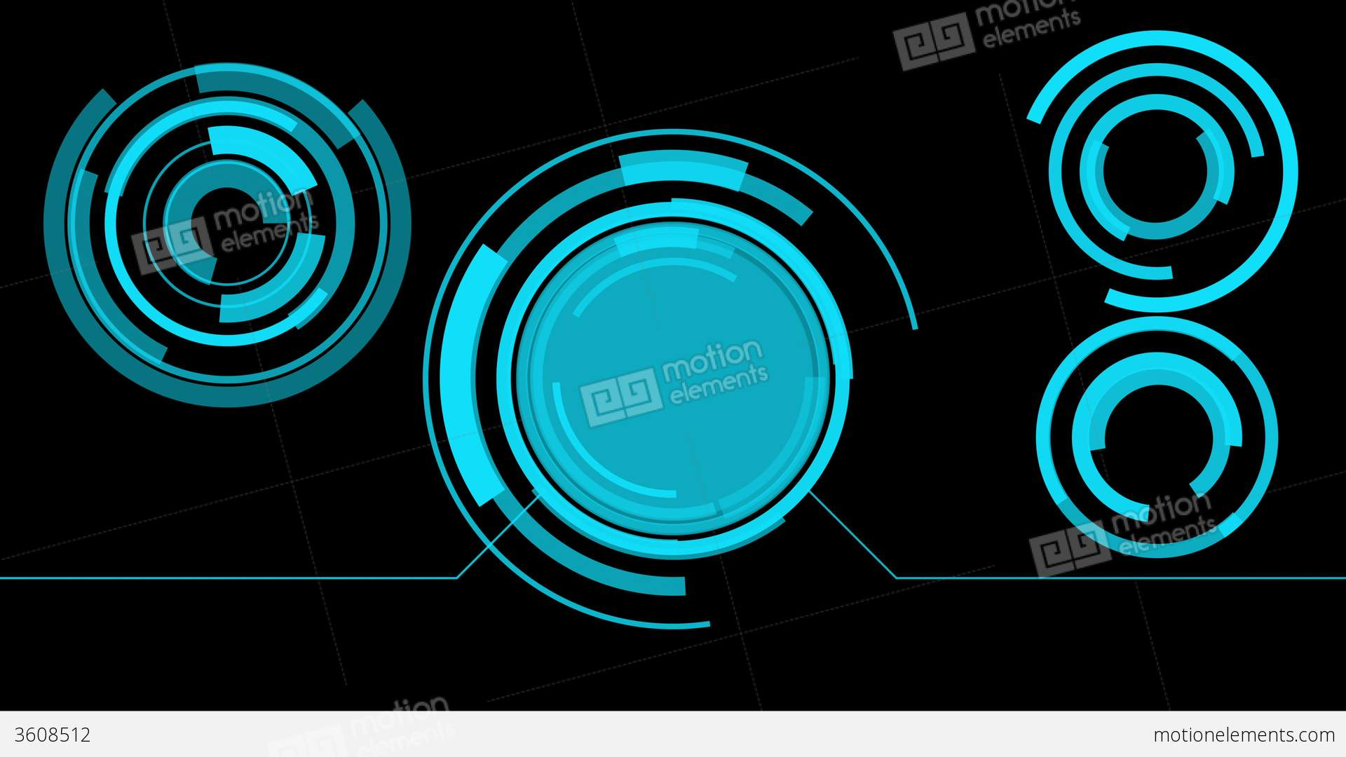 Hologram Interface Graphics Abstract Screen Stock