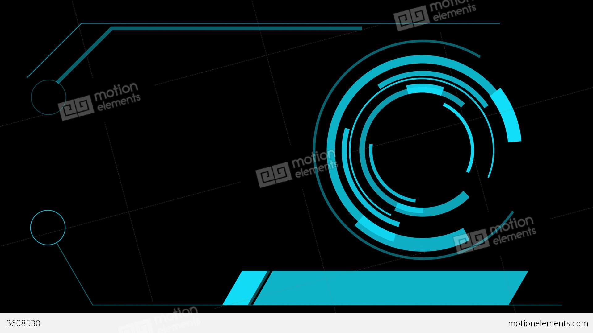 Screen Hologram Hud Interface Graphics Stock Animation