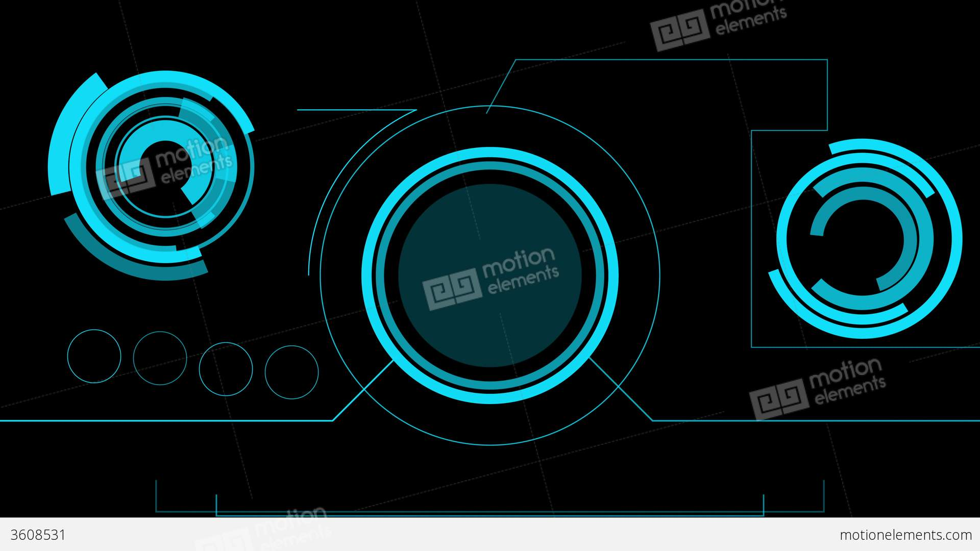 Hologram Futuristic Interface Abstract Motion Hud Stock