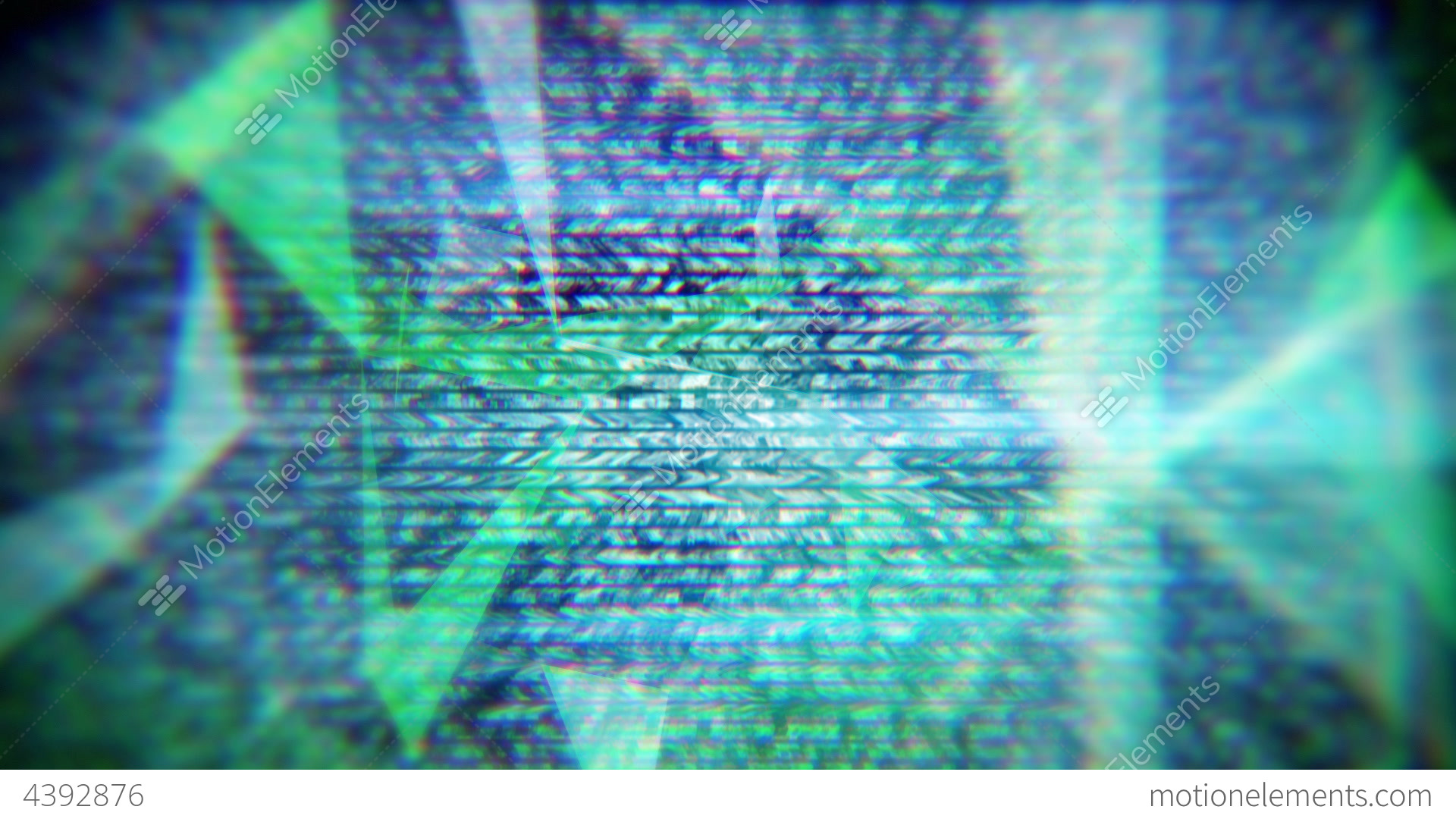 Glitch Techno Background Seamless Loop Stock Animation