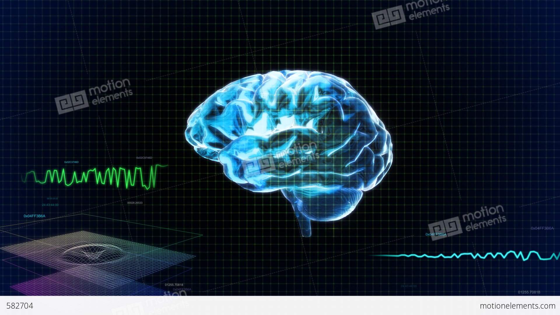 Blue brain with code stock animation 582704 blue brain with code stock video footage ccuart Gallery