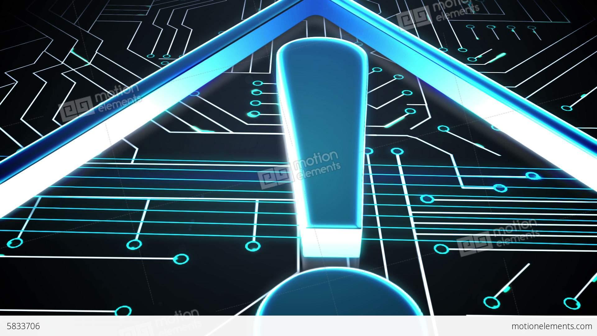 Warning symbol on circuit board design stock animation 5833706 warning symbol on circuit board design stock video footage buycottarizona Image collections