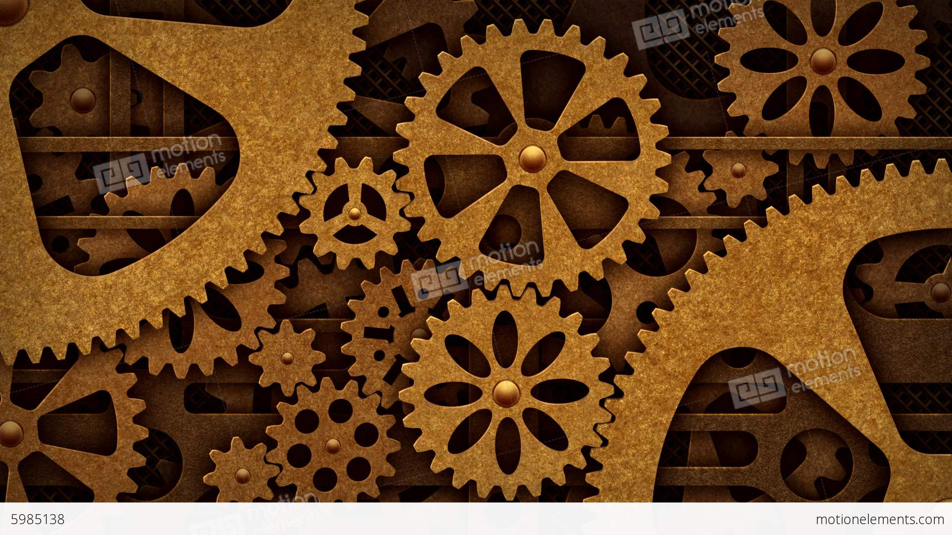 House Decor App Steampunk Mechanism With Gears Stock Animation 5985138