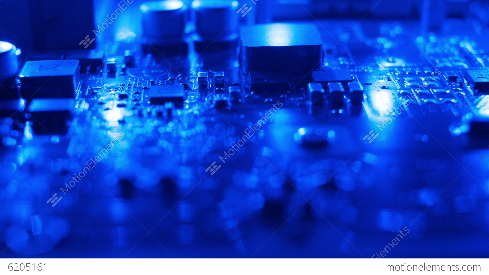 Dark Blue Electronic Background Stock video footage  6205161