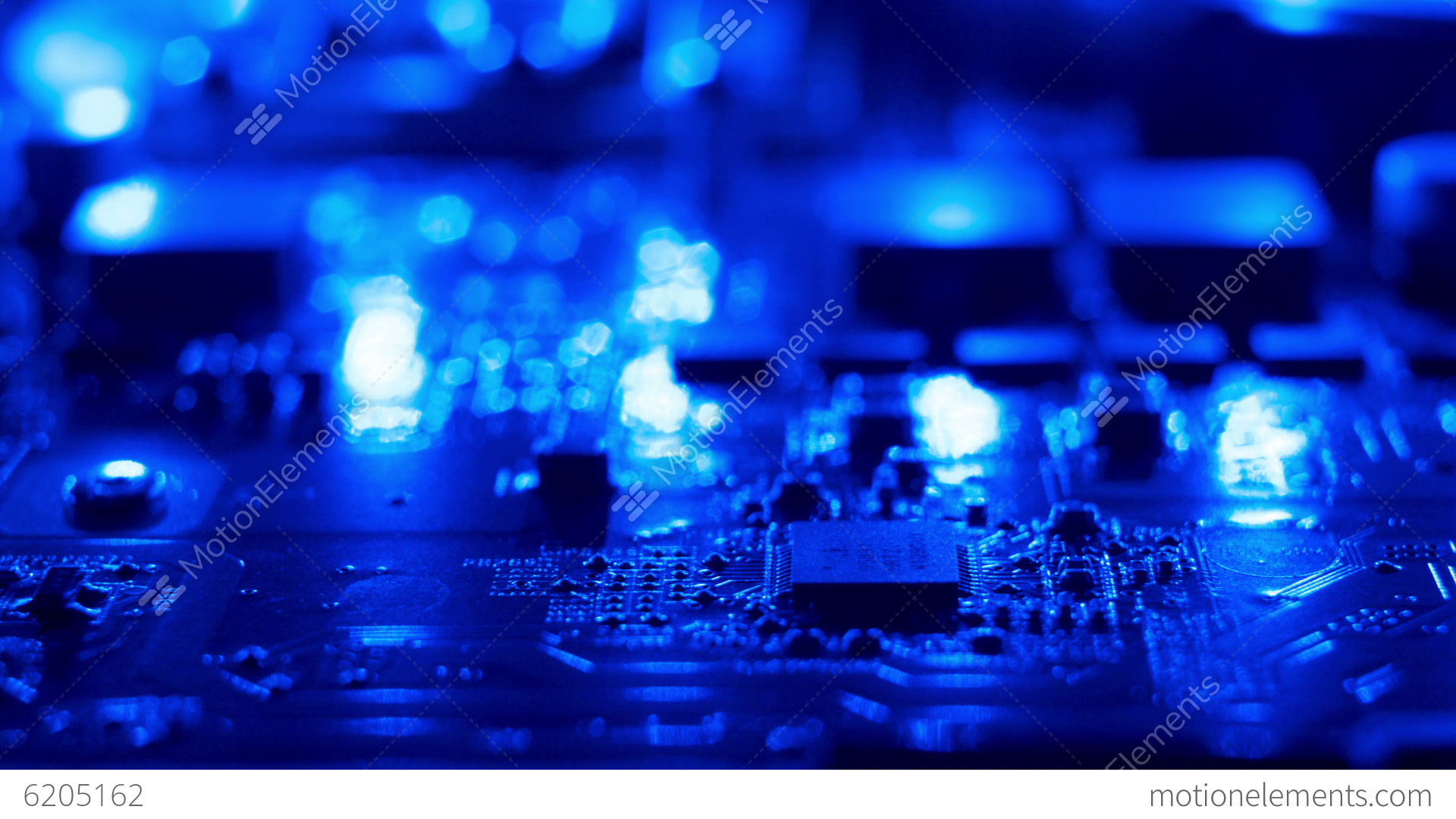 Blue Electronic Circuit Motion Background Stock video footage  6205162