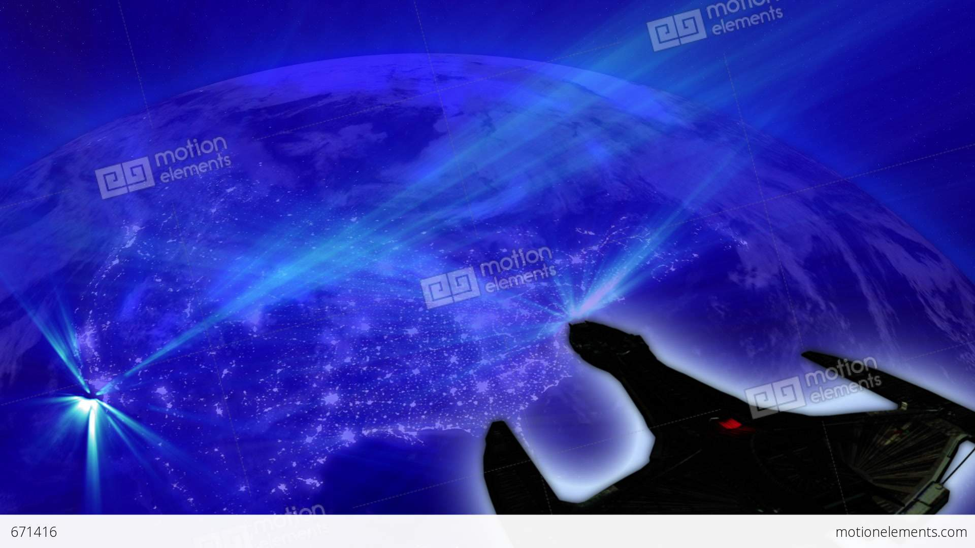 video animation alien invasion