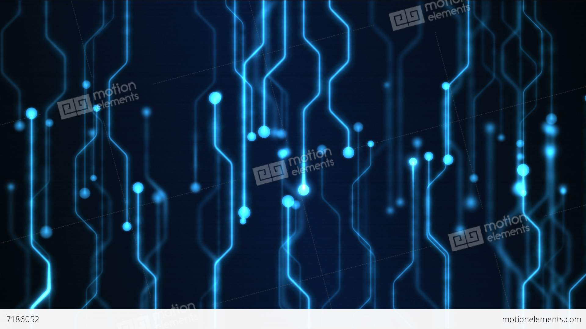 Abstract Technology Circuit Background Animation - Loop Blue Stock ...