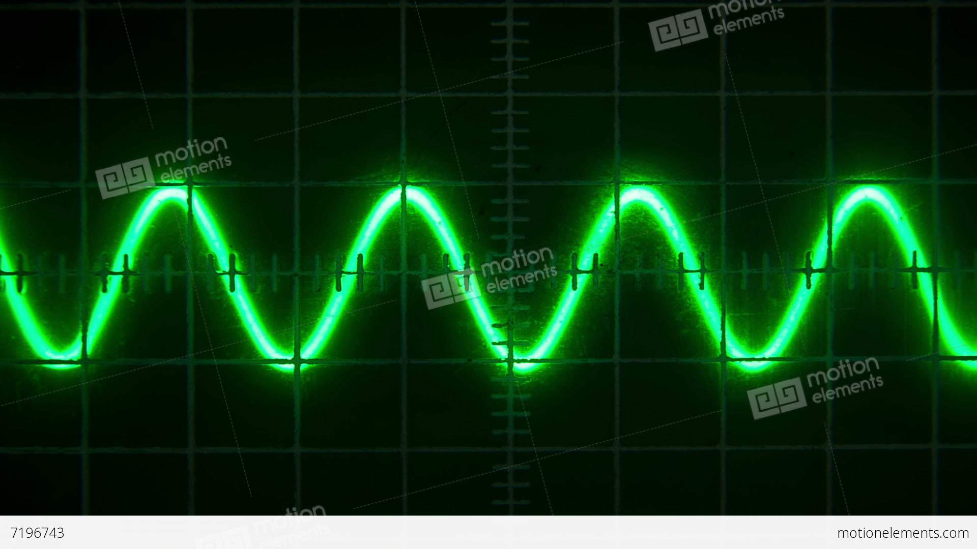 Old Oscilloscope Screen : Old oscilloscope stock video footage
