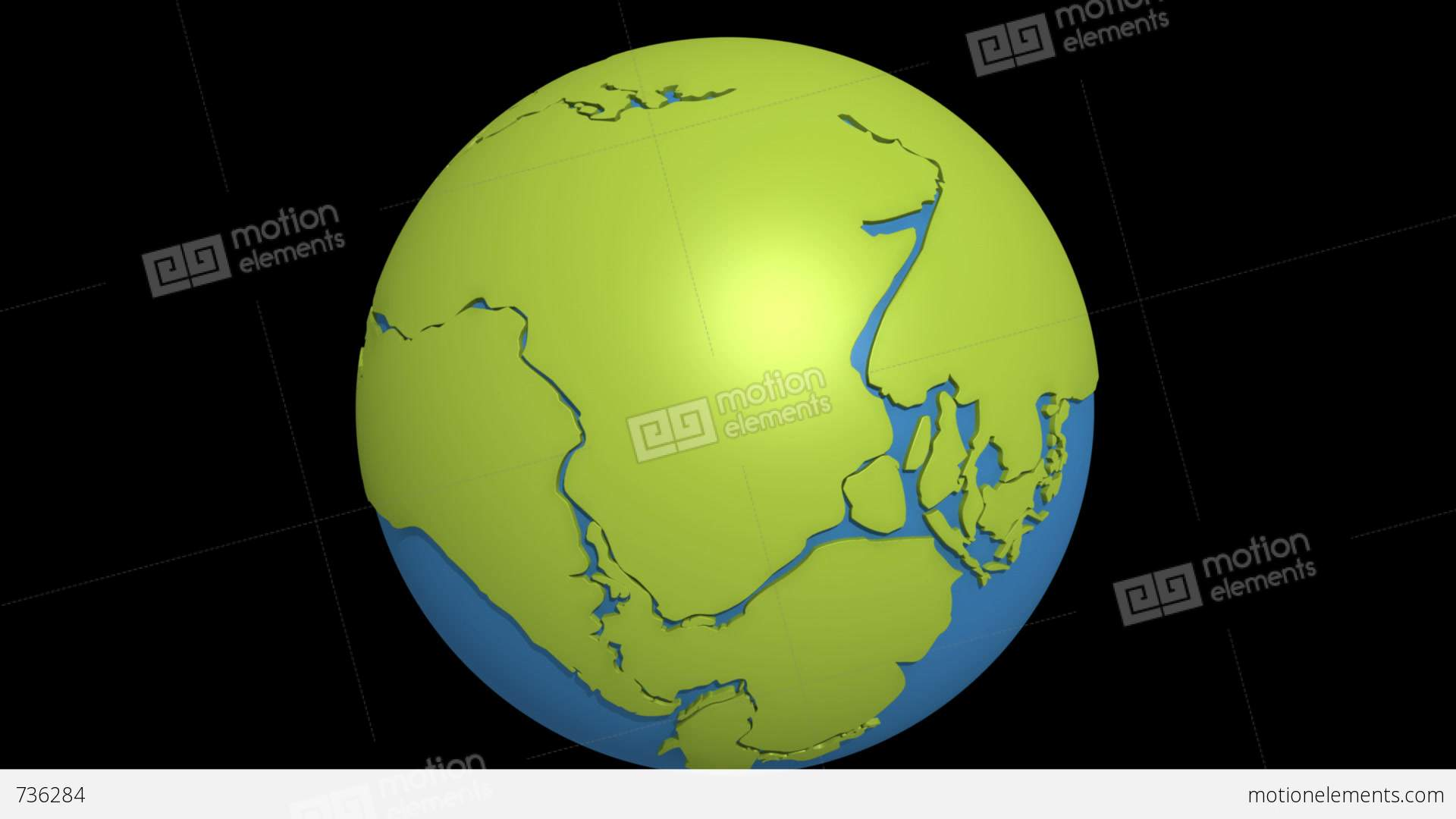 continental drift pacific stock animation