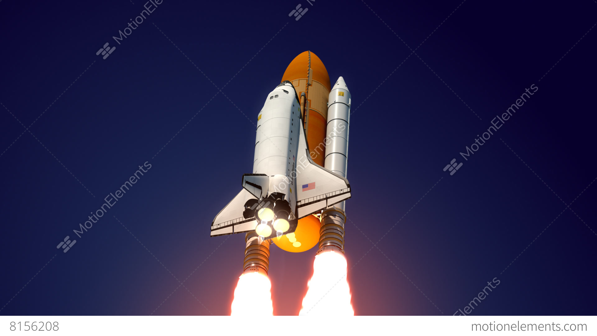 Space Shuttle Take Off Stock Animation | 8156208