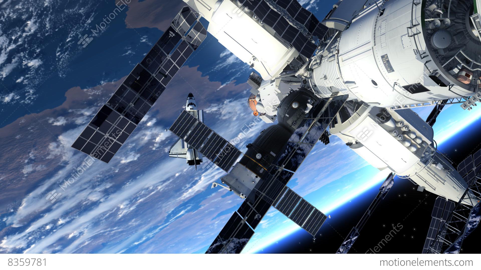 astronaut orbiting space station - photo #4