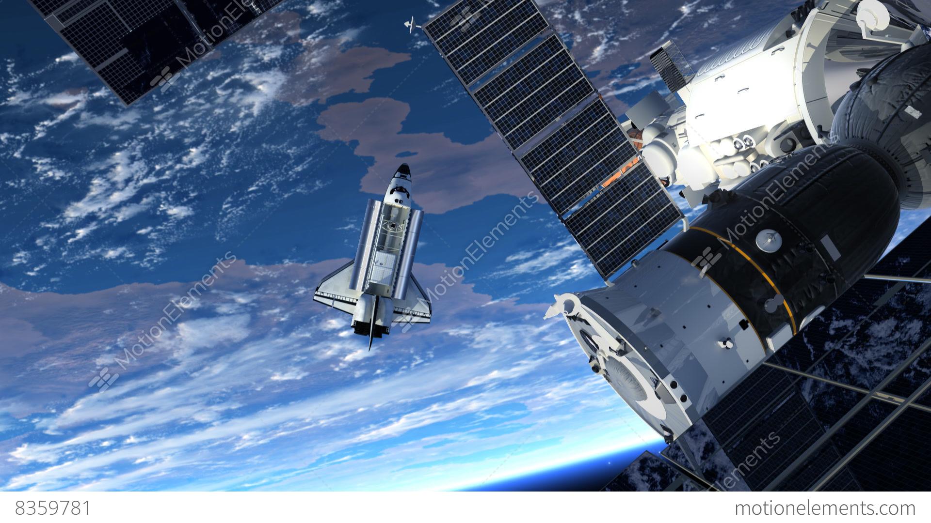 astronaut orbiting space station - photo #2