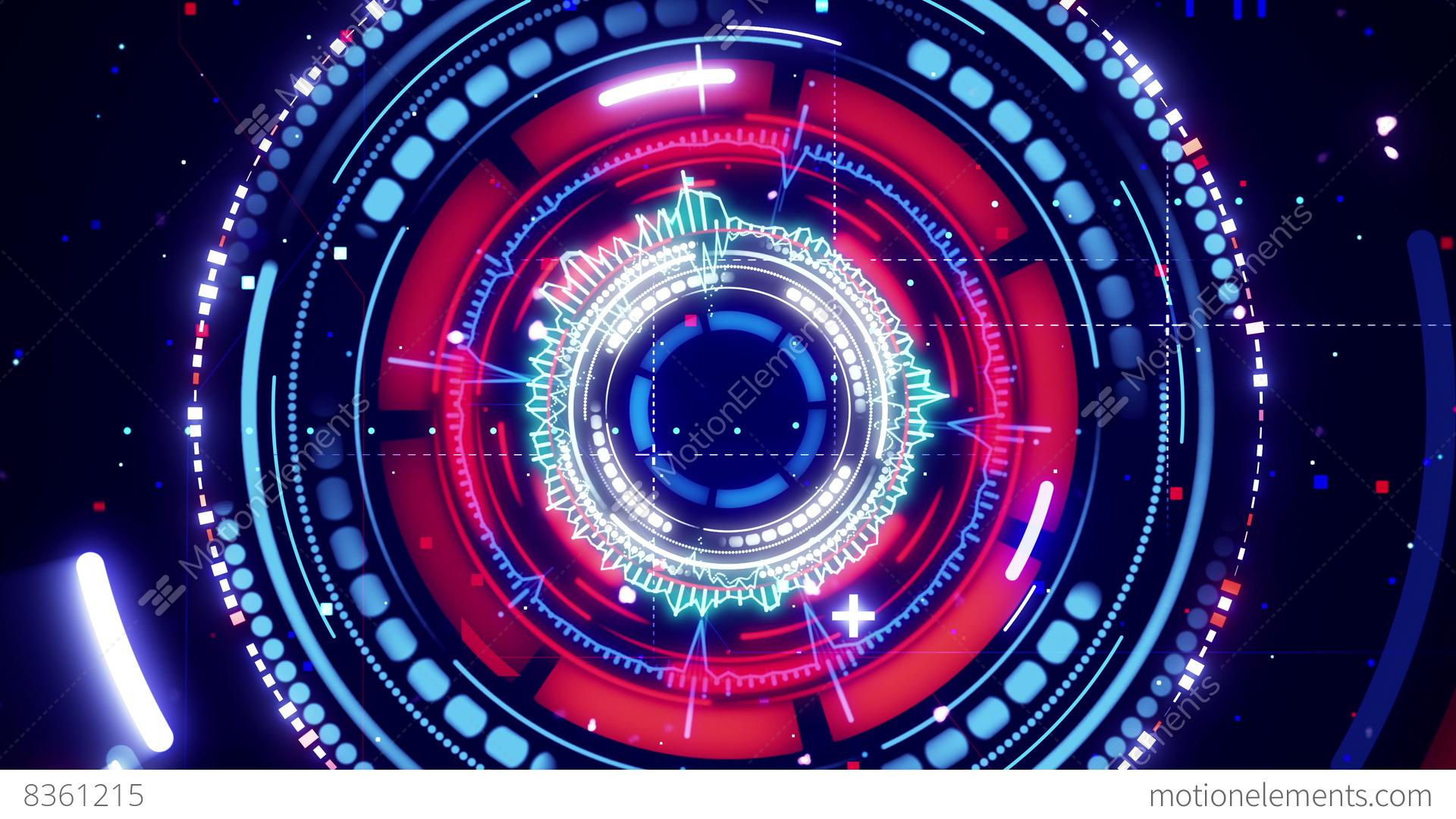 circular spectrum analyzer futuristic loopable animation 4k
