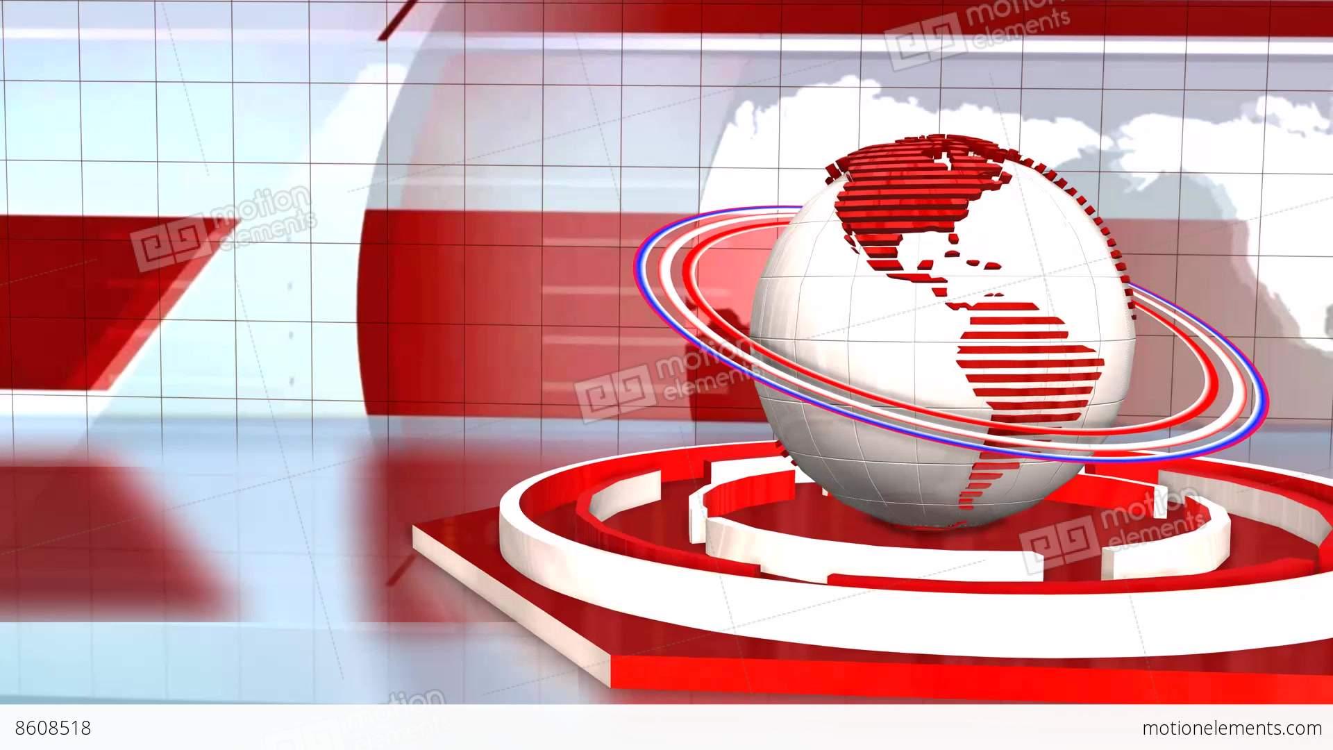 News Broadcast Background World Animation