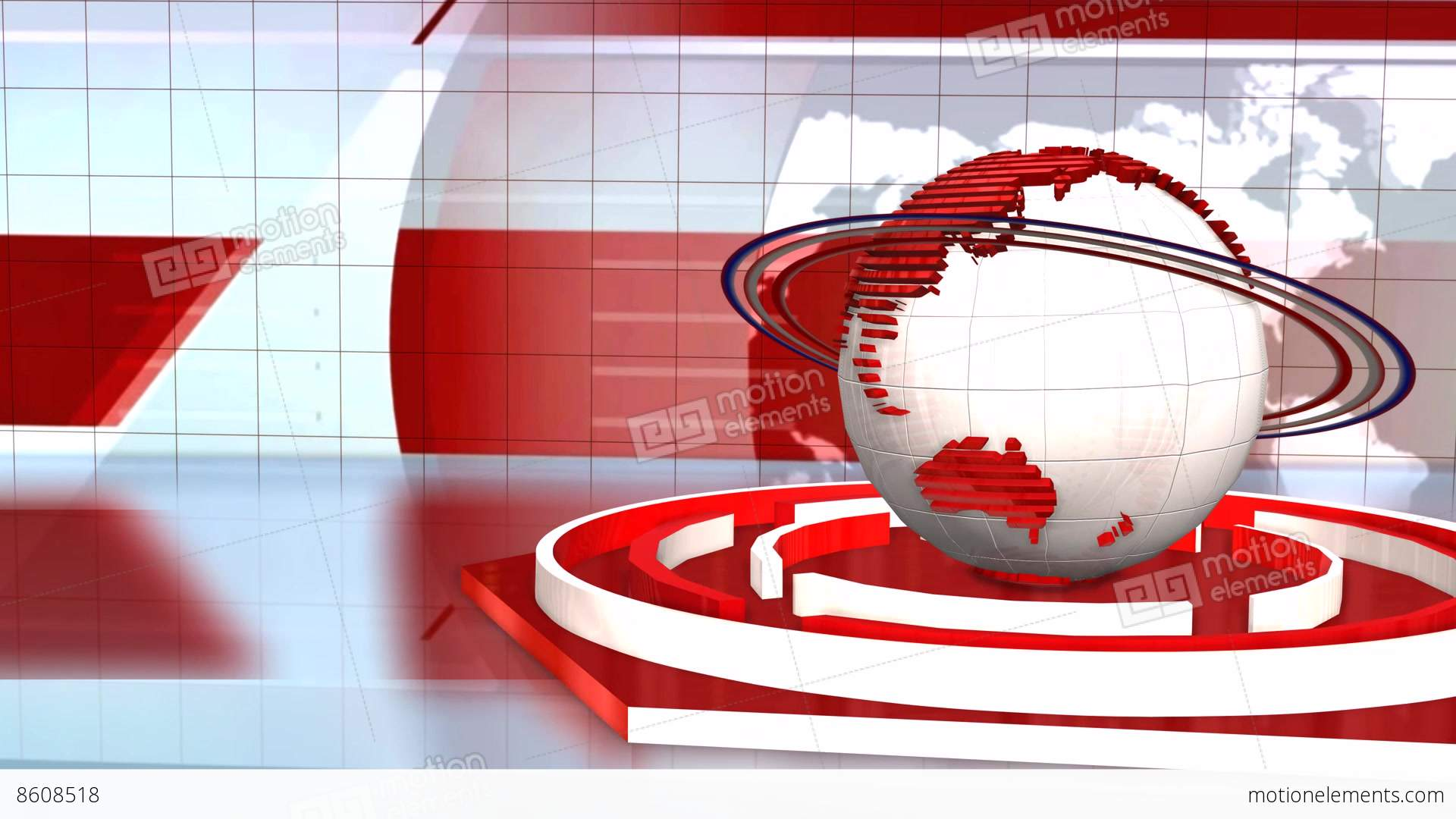 News Broadcast Background World Animation Stock Video Footage