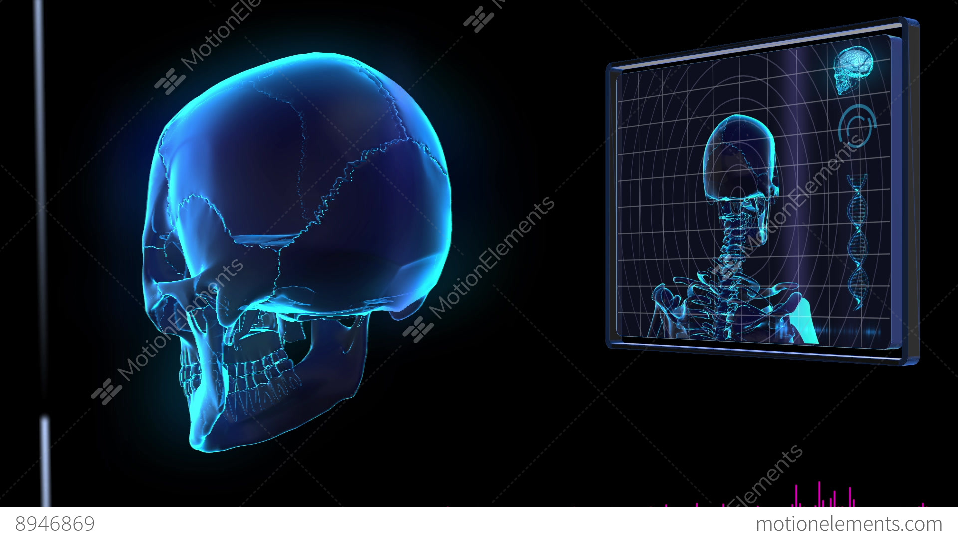Hud Stunning Science Fiction Medical Design Element Human Skull Photo 5 10 Holoshift Tachometer And Shift Light Wiring 05 Perfect Panel Stock Video Footage With
