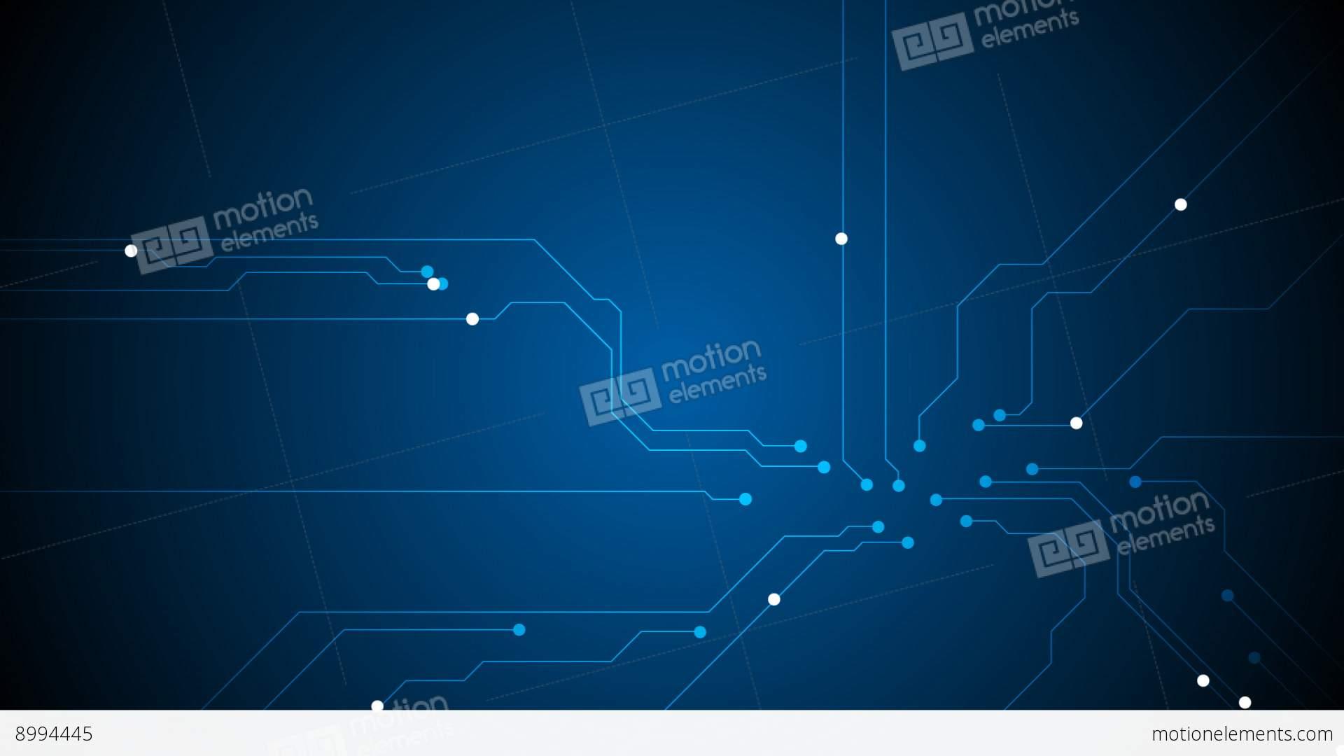 Blue Technology: Blue Tech Circuit Board Technology Video Animation Stock