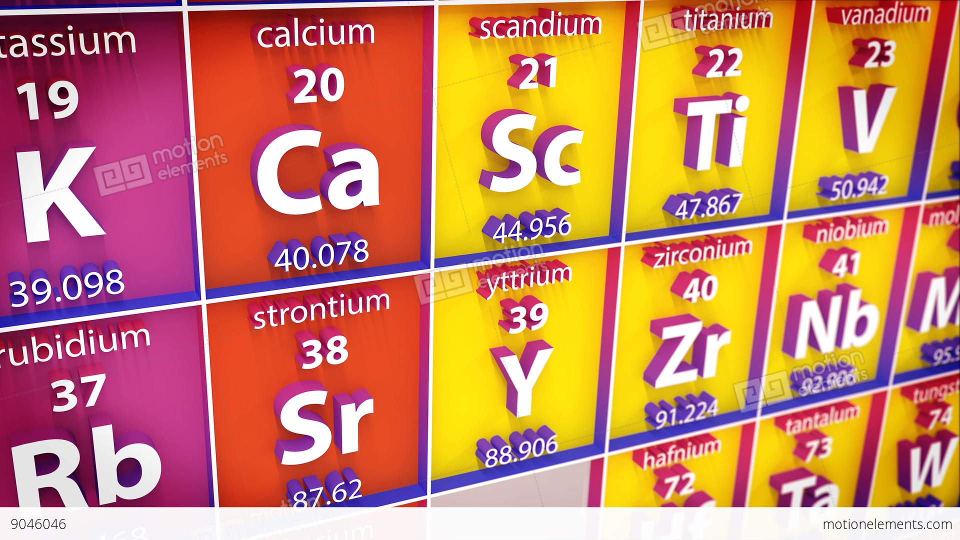 3d periodic table of element stock animation 9046046 3d periodic table of element stock video footage urtaz Image collections