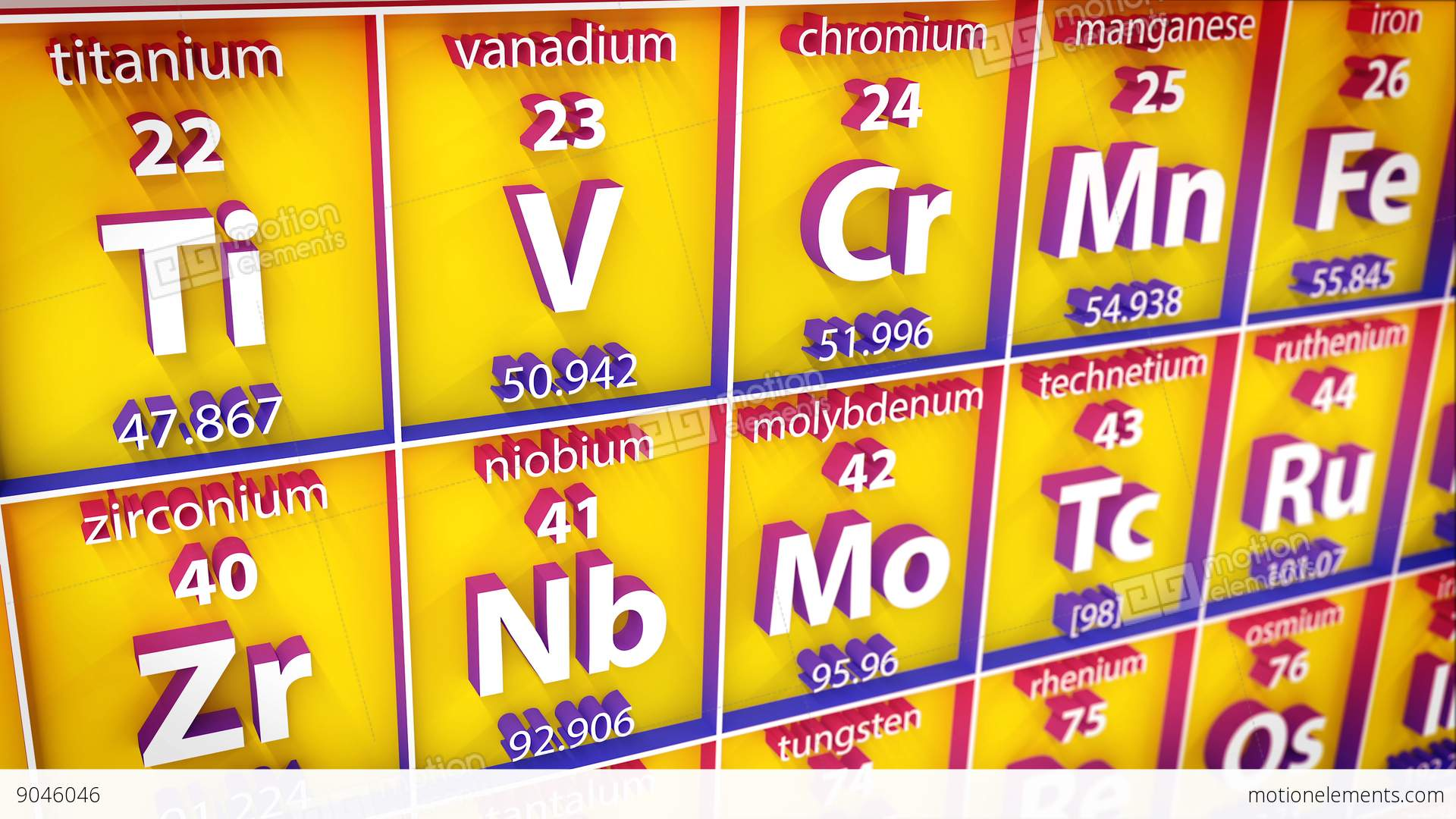 3d periodic table of element stock animation 9046046 3d periodic table of element stock video footage gamestrikefo Image collections