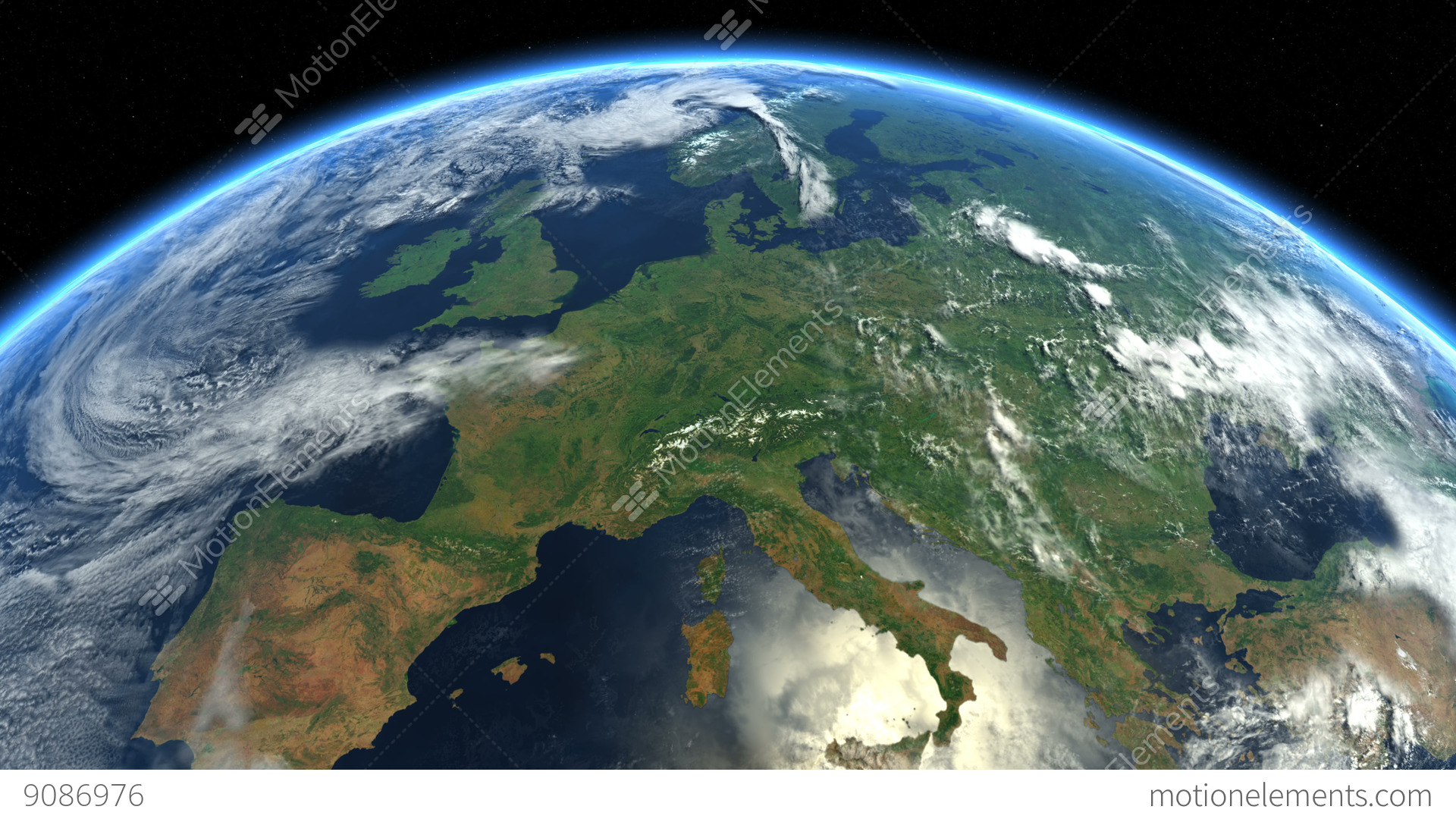Europe From Space Earth