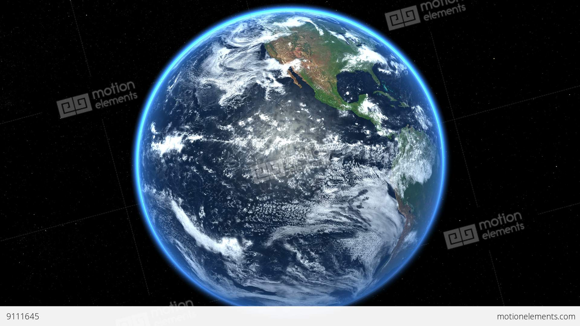 earth globe spinning rotating realistic sun light 360 loop stock