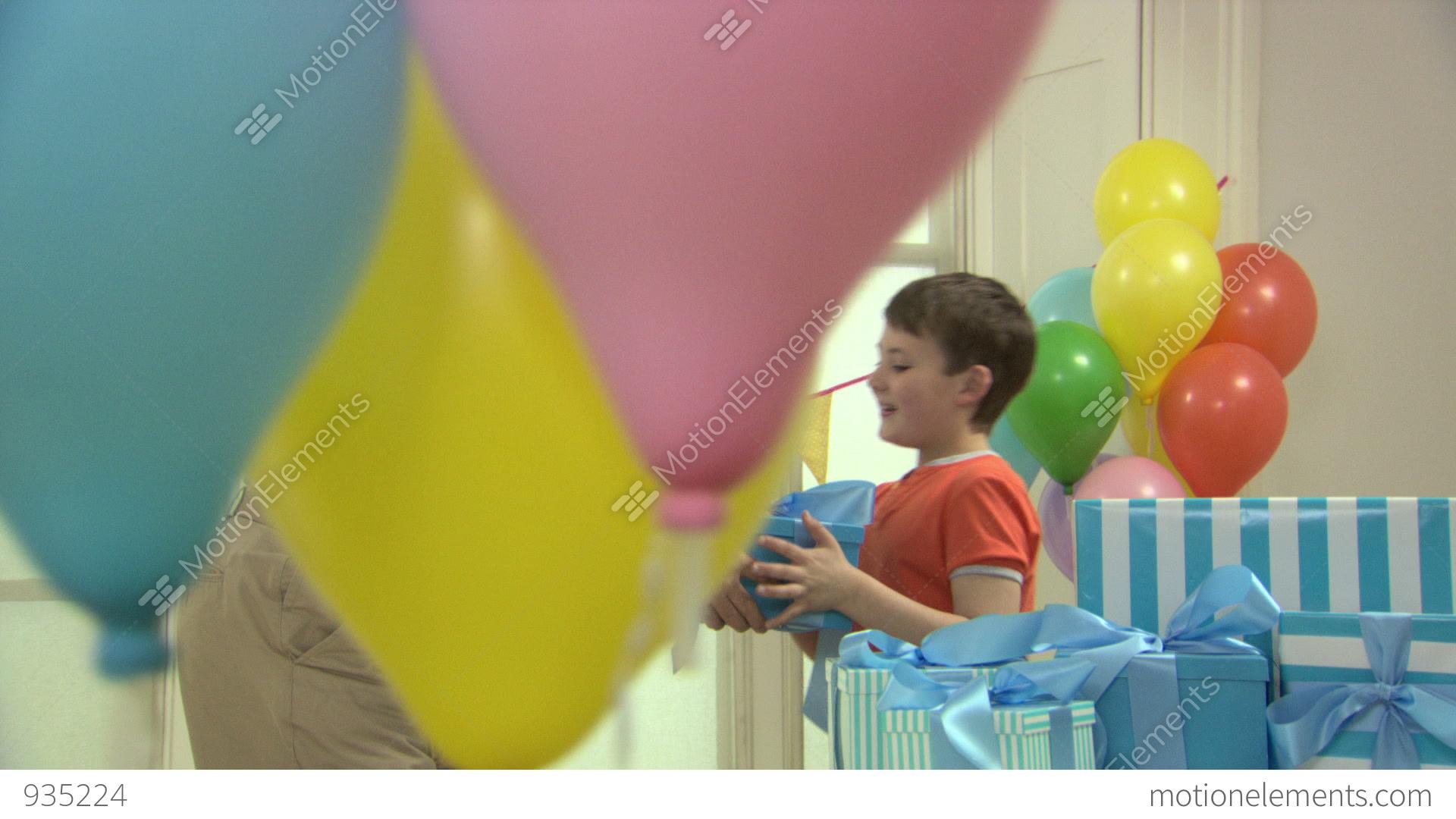 Man giving birthday gift to grandson stock video footage 935224 man giving birthday gift to grandson stock video footage negle Image collections