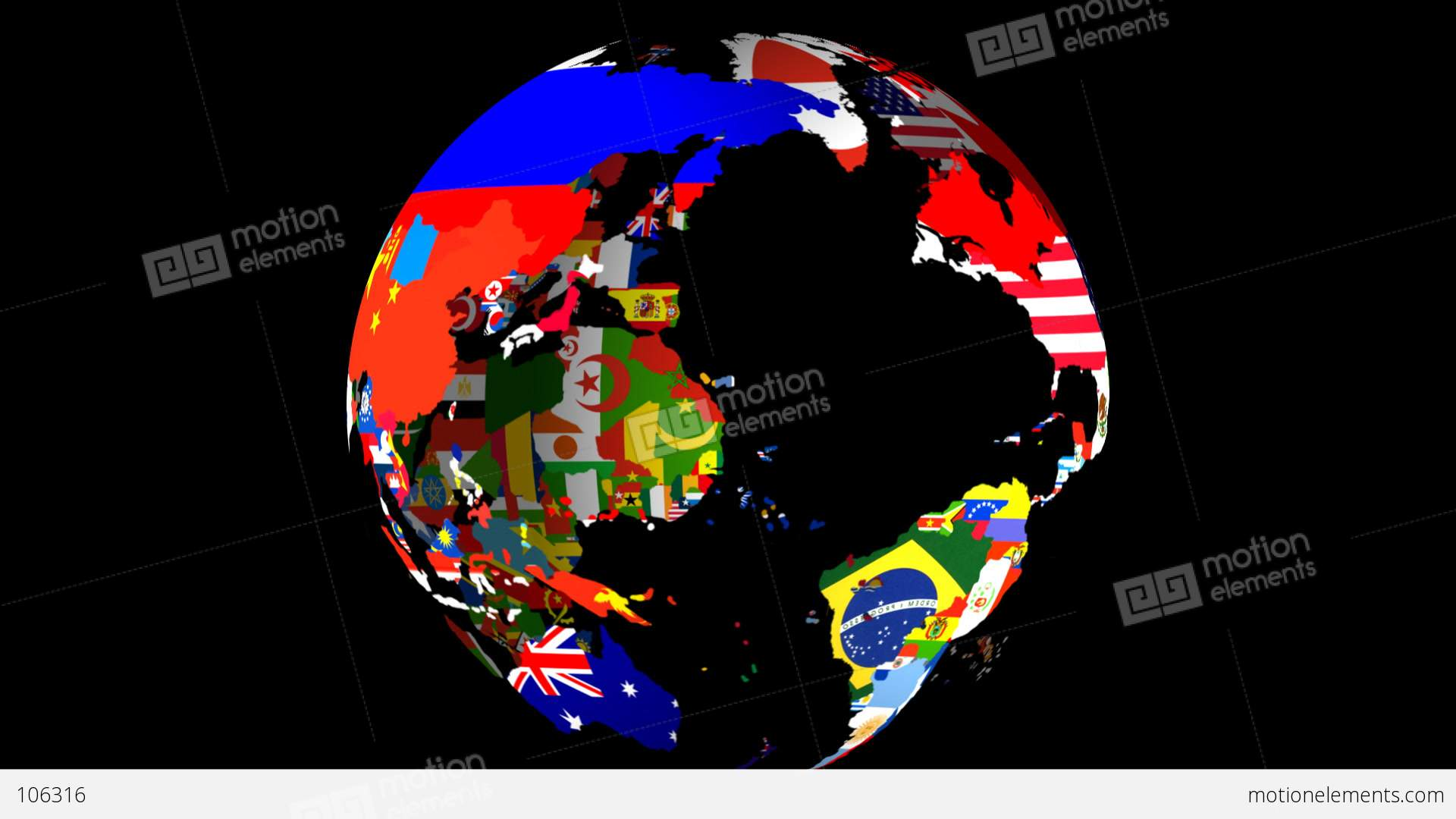 Loopable hd map globe middle stock animation 106316 loopable hd map globe middle stock video footage gumiabroncs Gallery