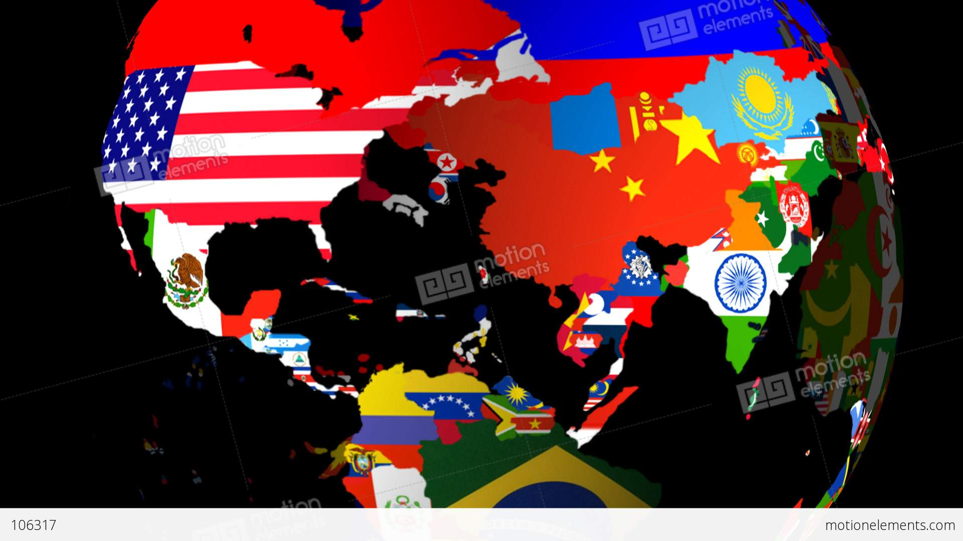 High definition loopable spinning globe with countries flags large high definition loopable spinning globe with countries stock video footage gumiabroncs Images