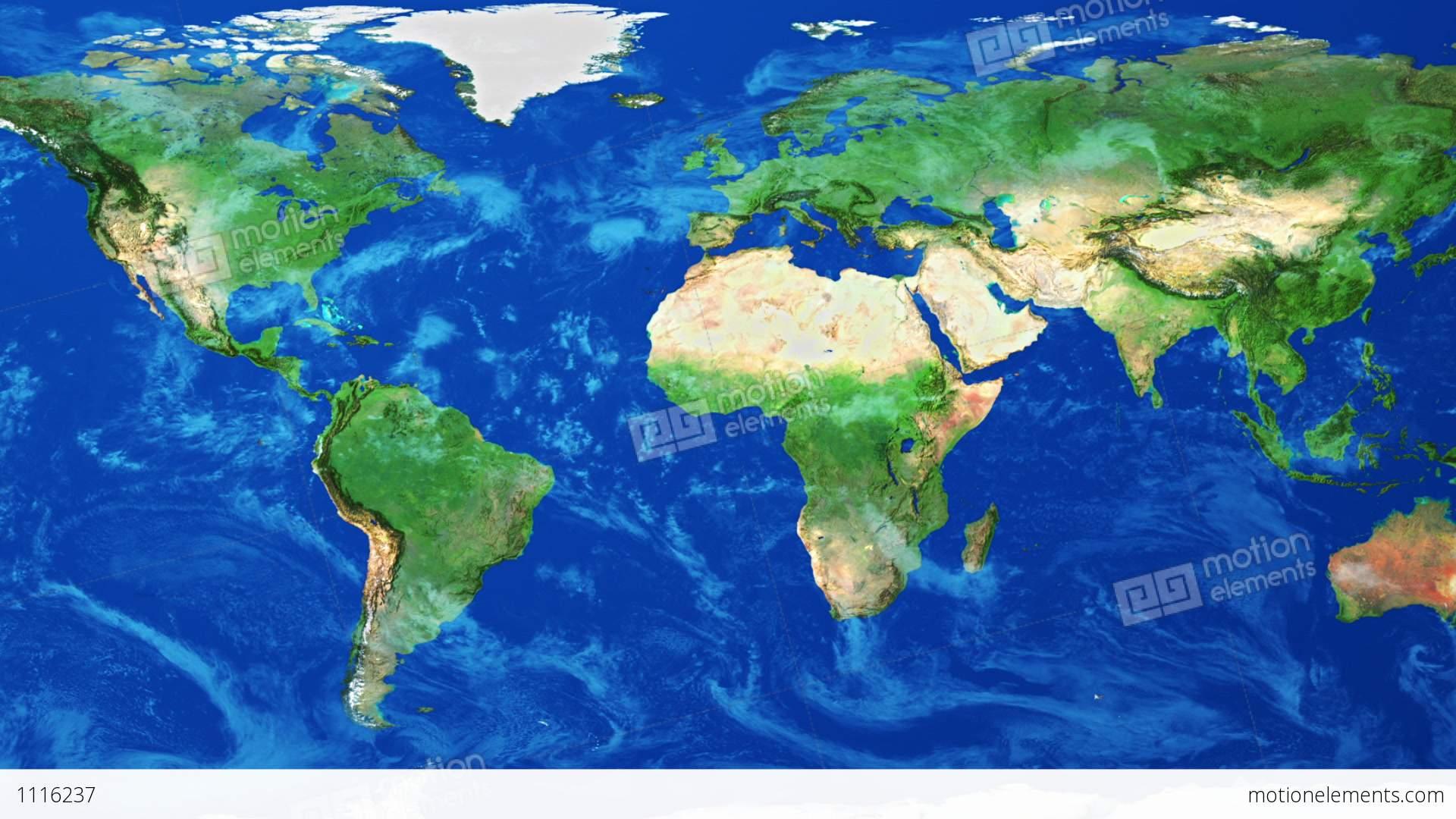 Realistic World Map Wraps To Globe Loop On Black Stock Animation - World map glob