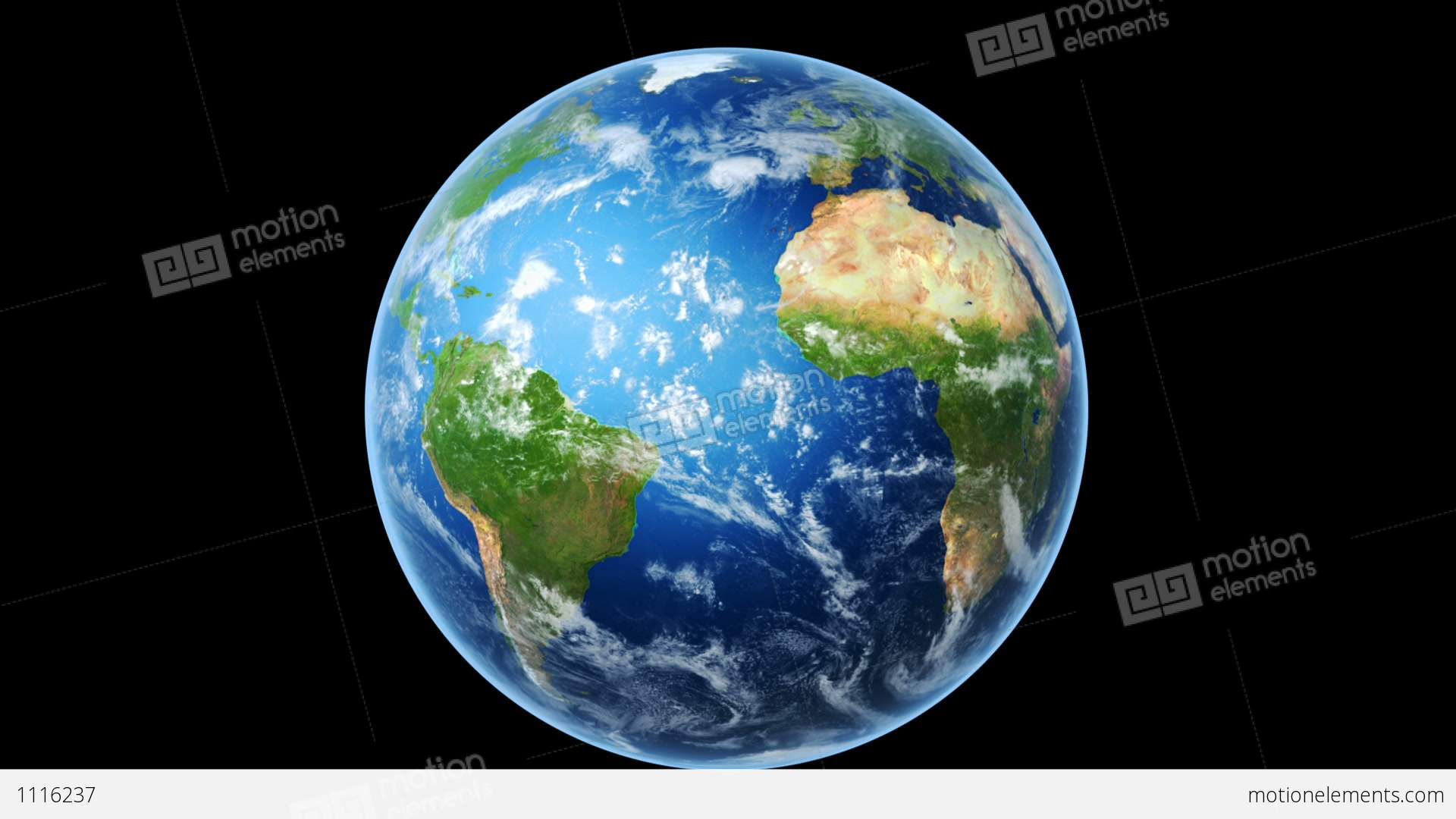 Realistic World Map Wraps To Globe (loop On Black) Stock Animation