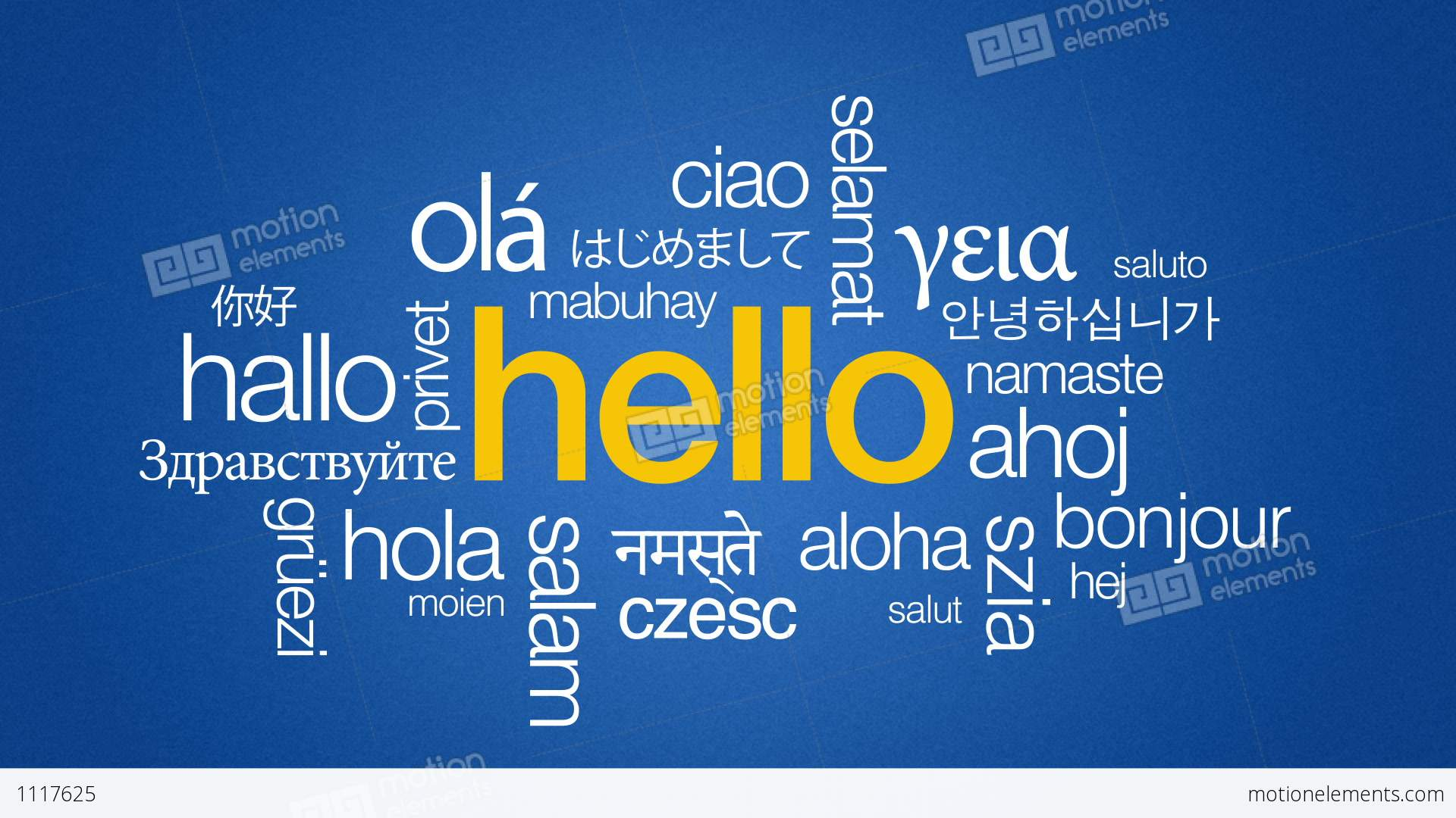 How to write hello in different language