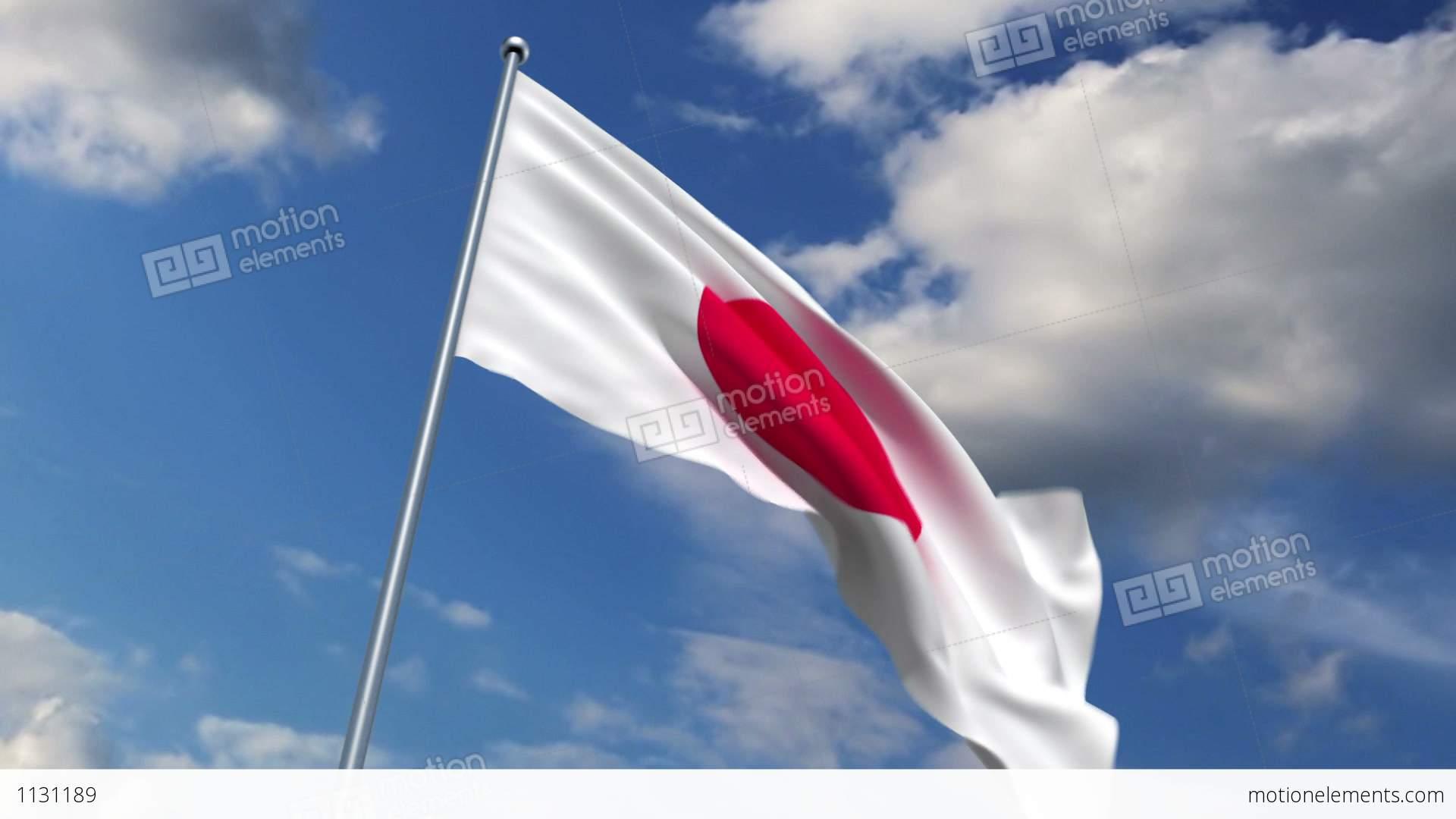 japanese flag stock animation 1131189
