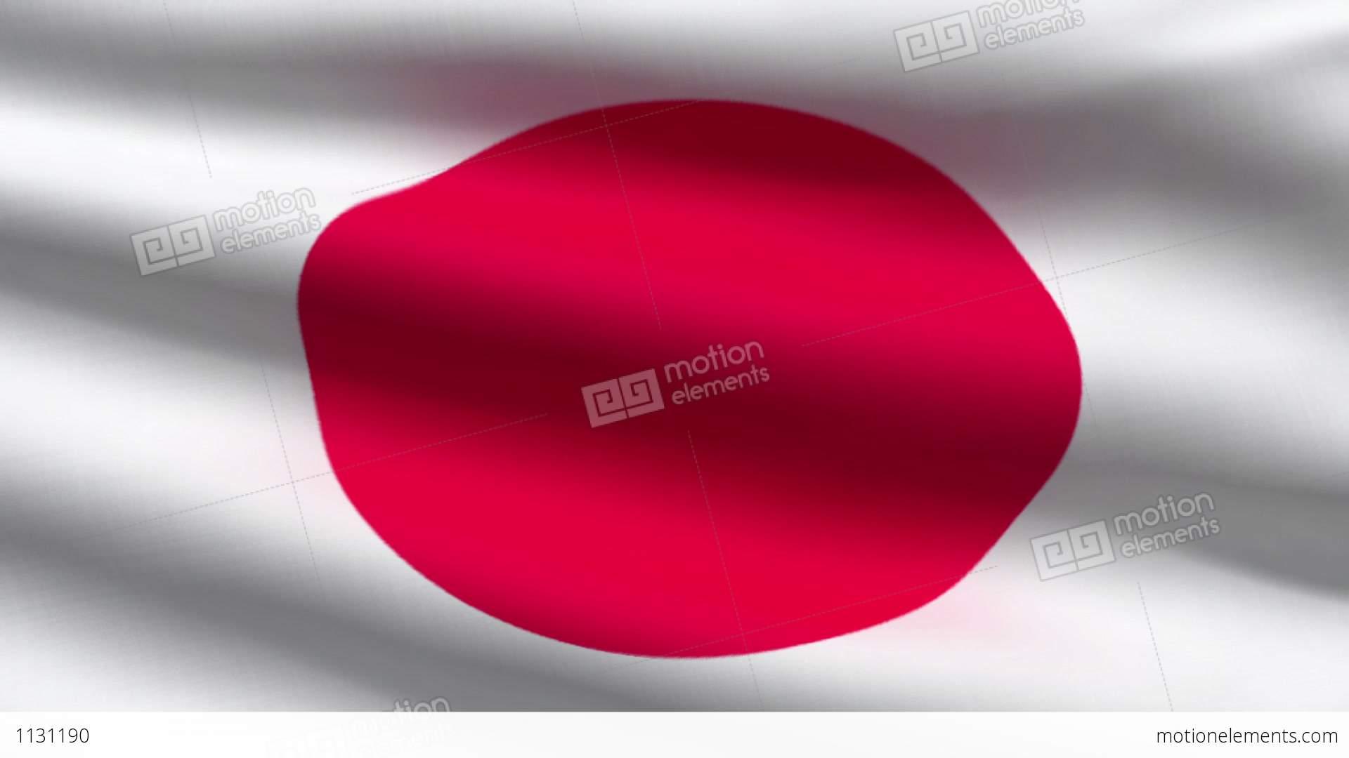 Japanese Flag Stock Animation - Japanese flag