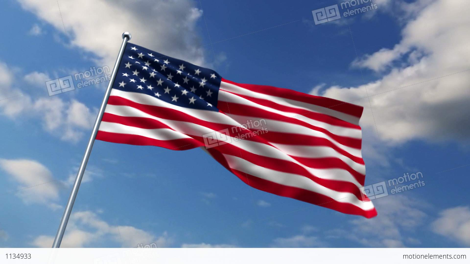 Usa flag waving against time lapse clouds background stock - American flag hd ...