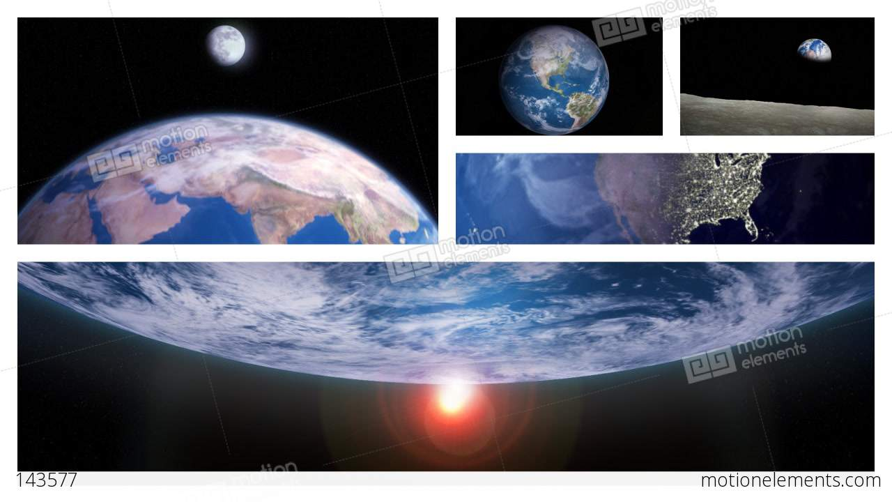 Beautiful planet earth rotating in outer space in multiple for 3d map of outer space