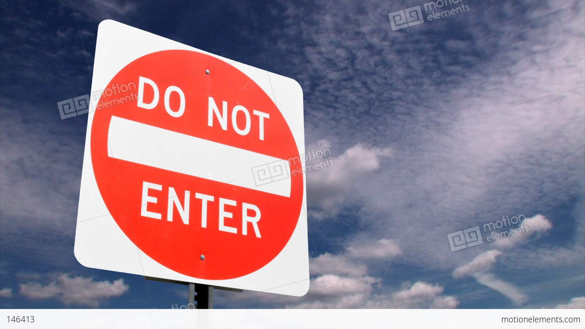 No entry sign Stock Video Footage