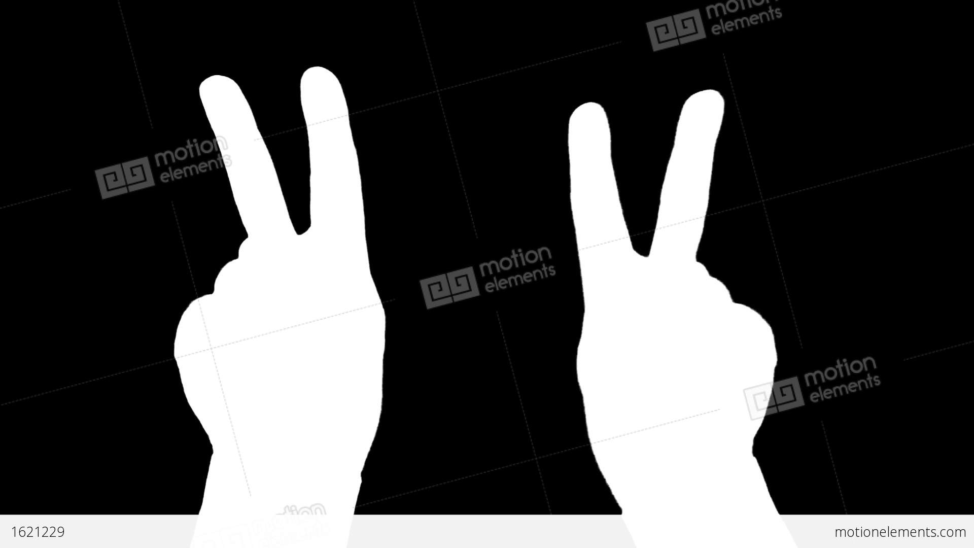 Hand Sign The Symbol Of Victory Alpha Channel Is Included Stock