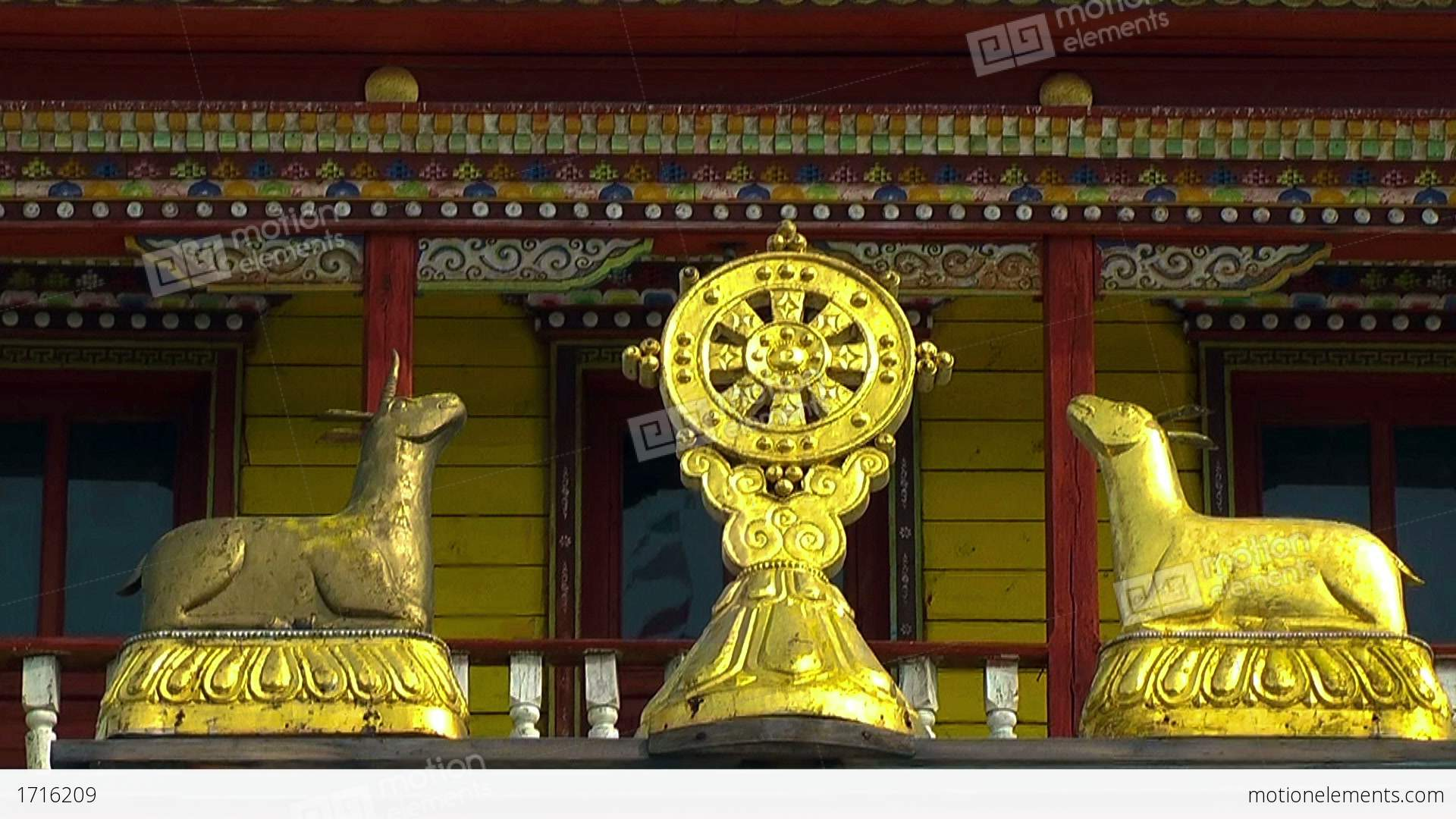 Buddhist Symbol Dharmacakrawheel Of Life Stock Video Footage 1716209