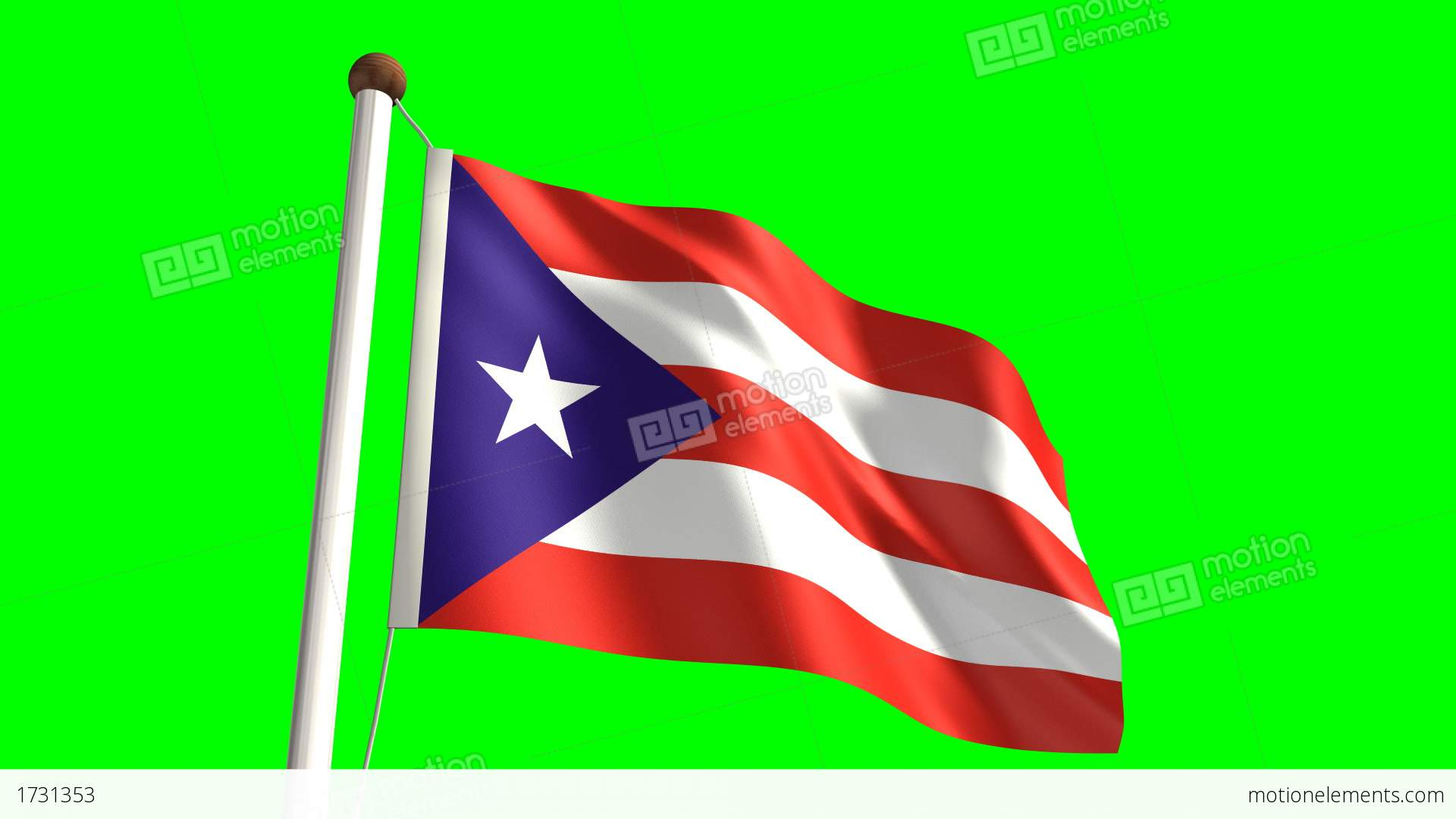 Puerto rico flag stock animation 1731353 puerto rico flag stock video footage biocorpaavc Choice Image