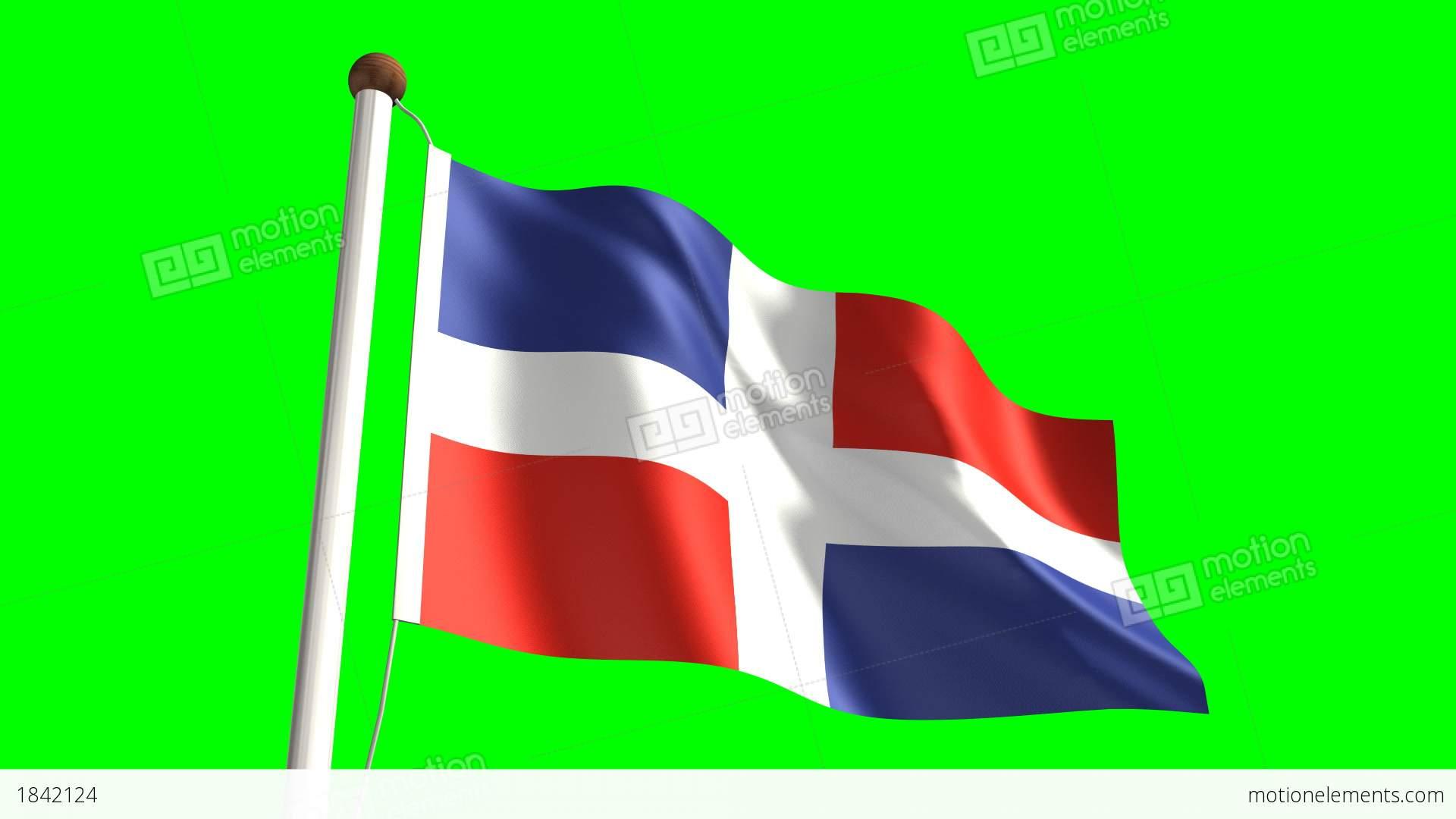 Dominican Republic Flag Stock Animation 1842124