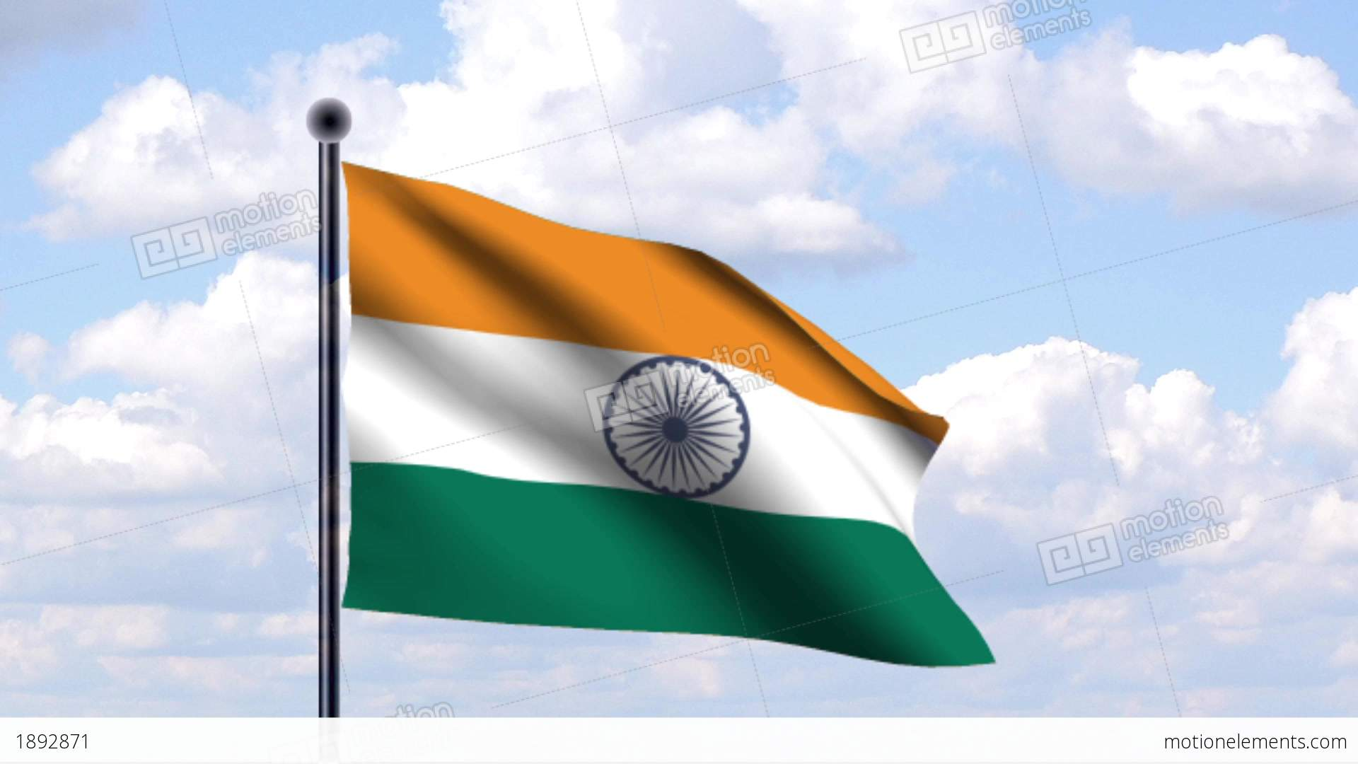 Indian Flag Animated: Animated Flag Of India / Indien Stock Animation