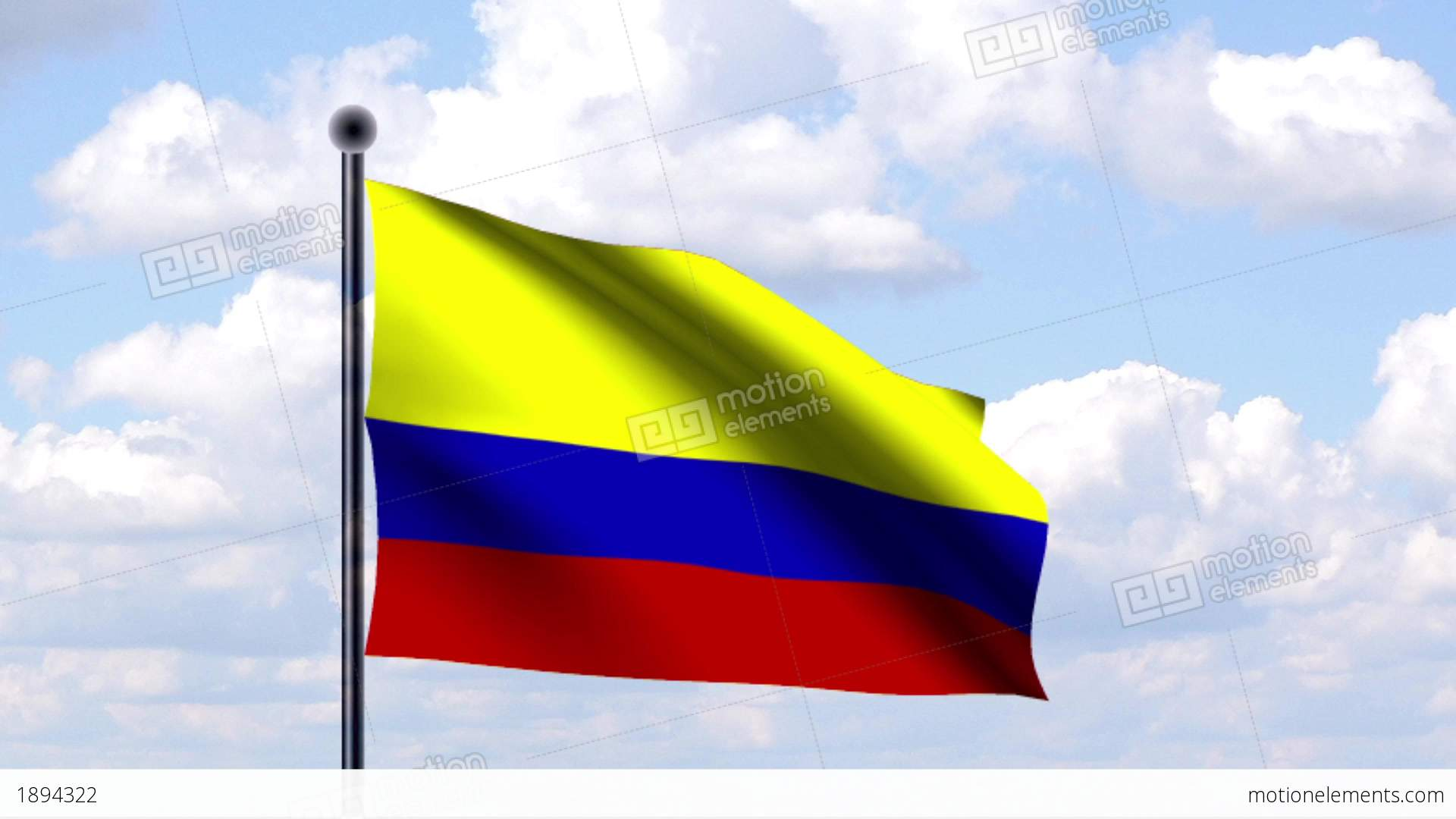 Animated Flag Of Colombia Animierte Flagge Von K Stock Animation