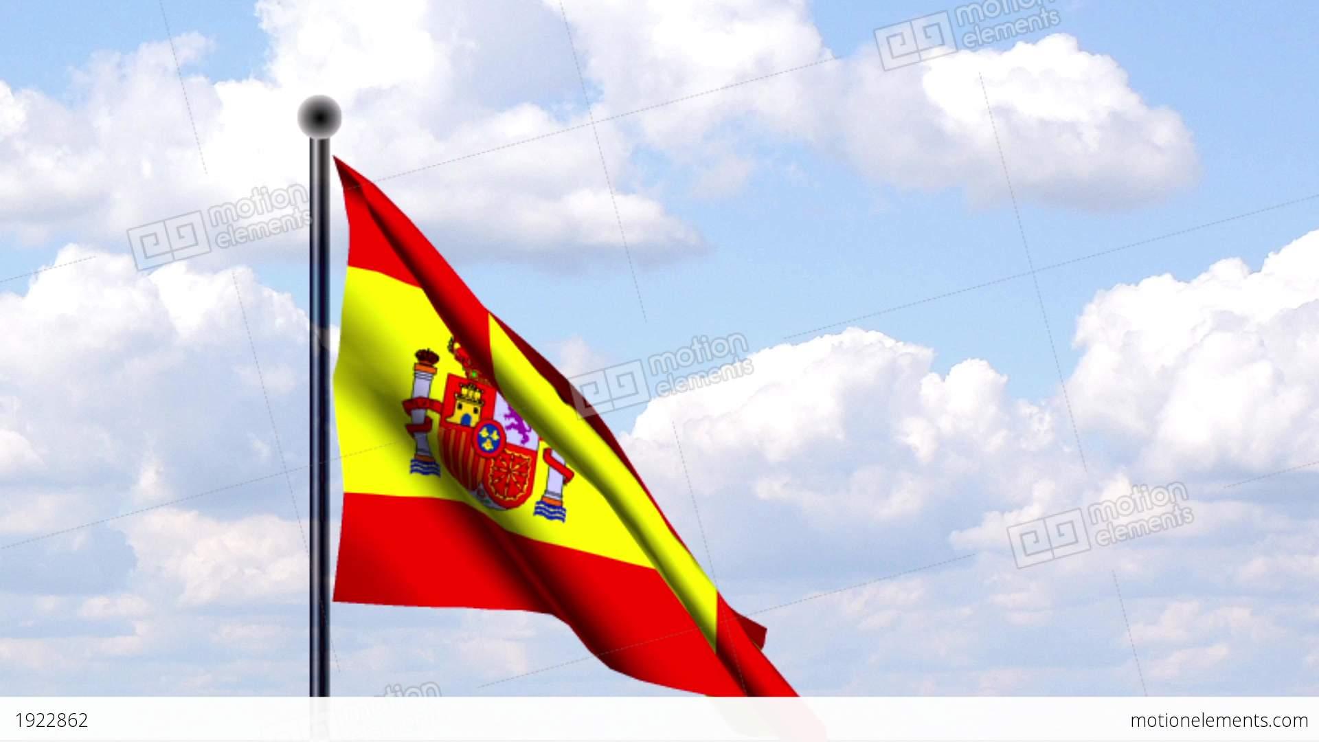 animated flag of spain spanien stock animation 1922862