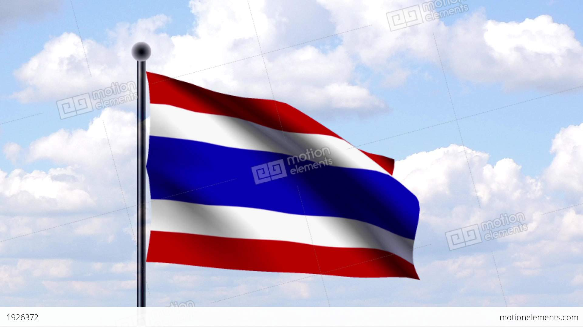 Animated Flag Of Thailand Stock Animation 1926372