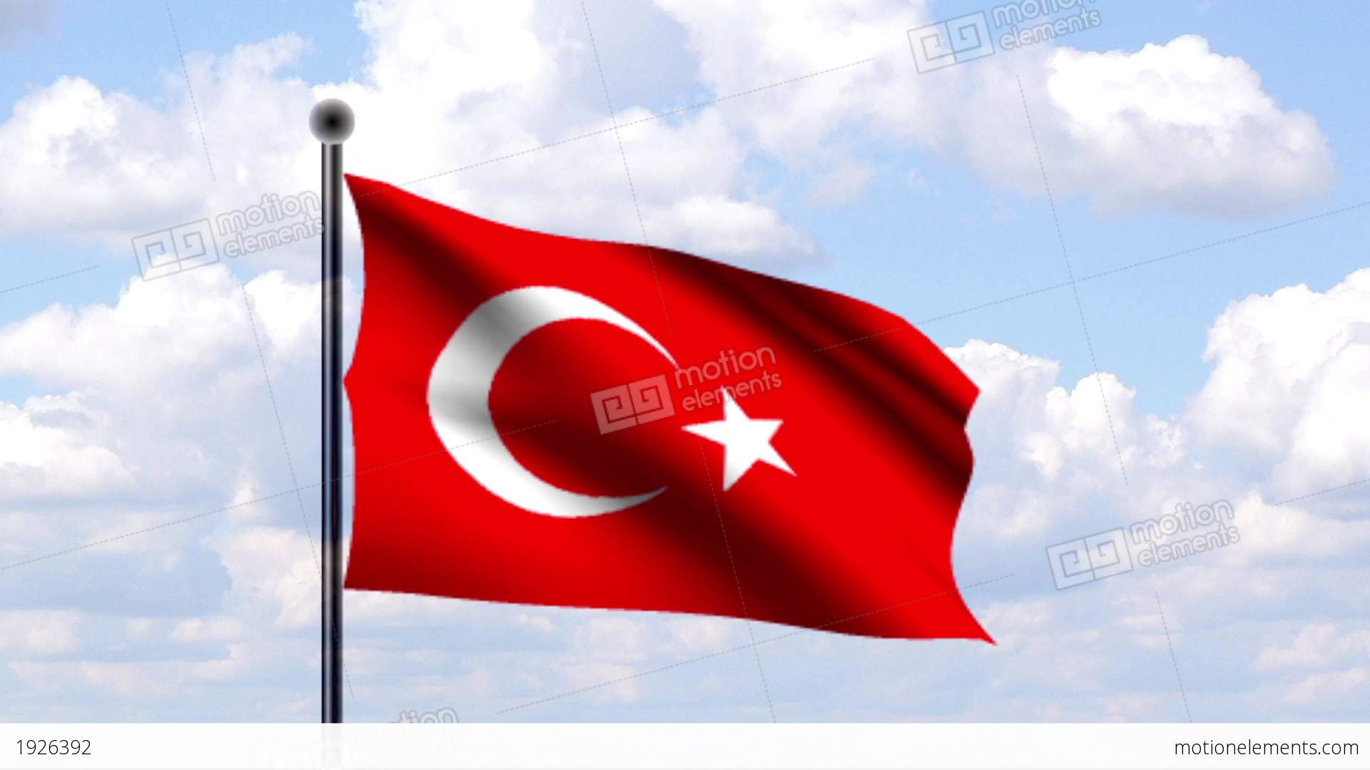 Animated Flag Of Turkey T 252 Rkei Stock Animation Royalty