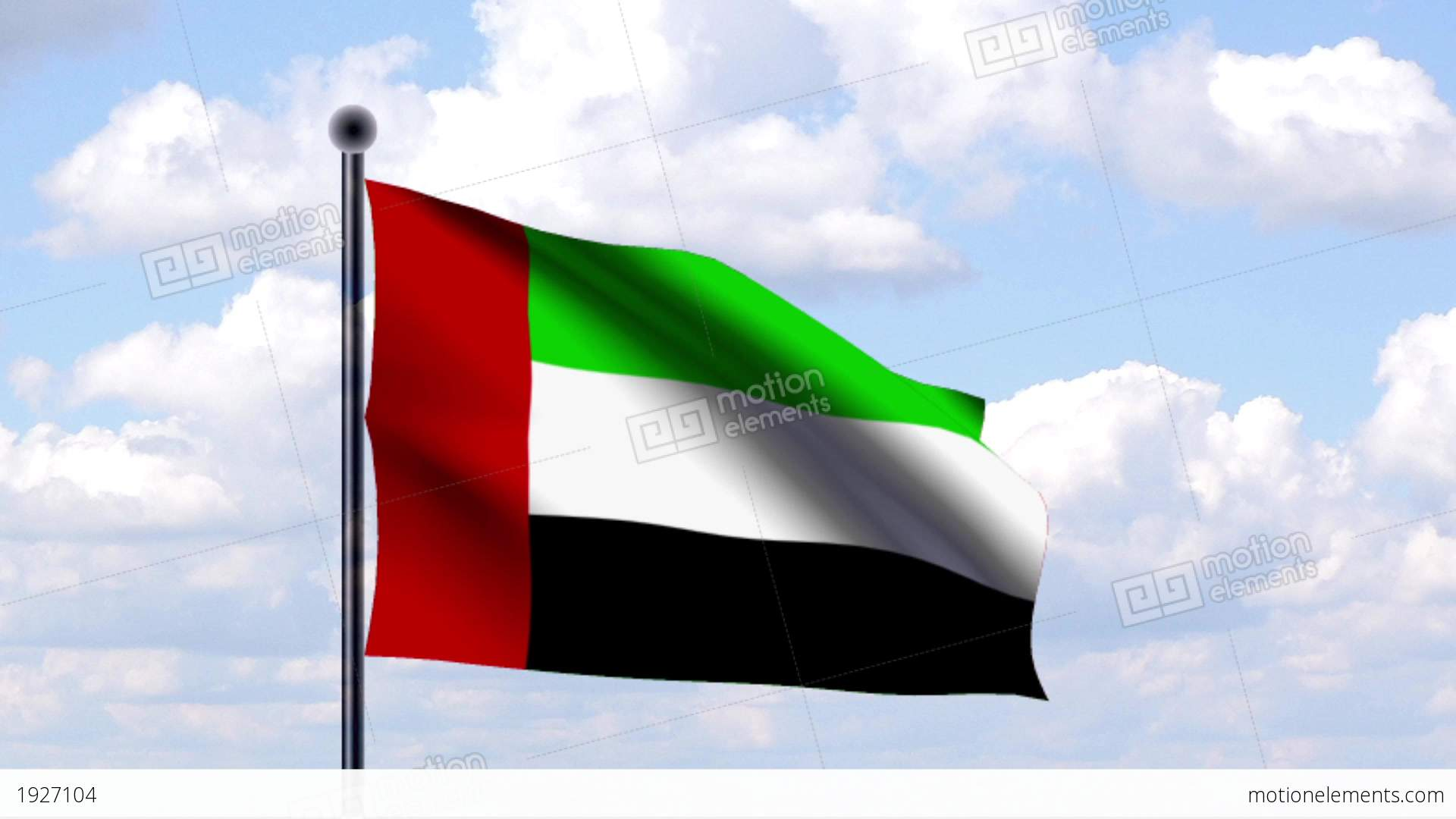 Animated Flag Of United Arab Emirates Stock Animation ...Uae Flag Animation